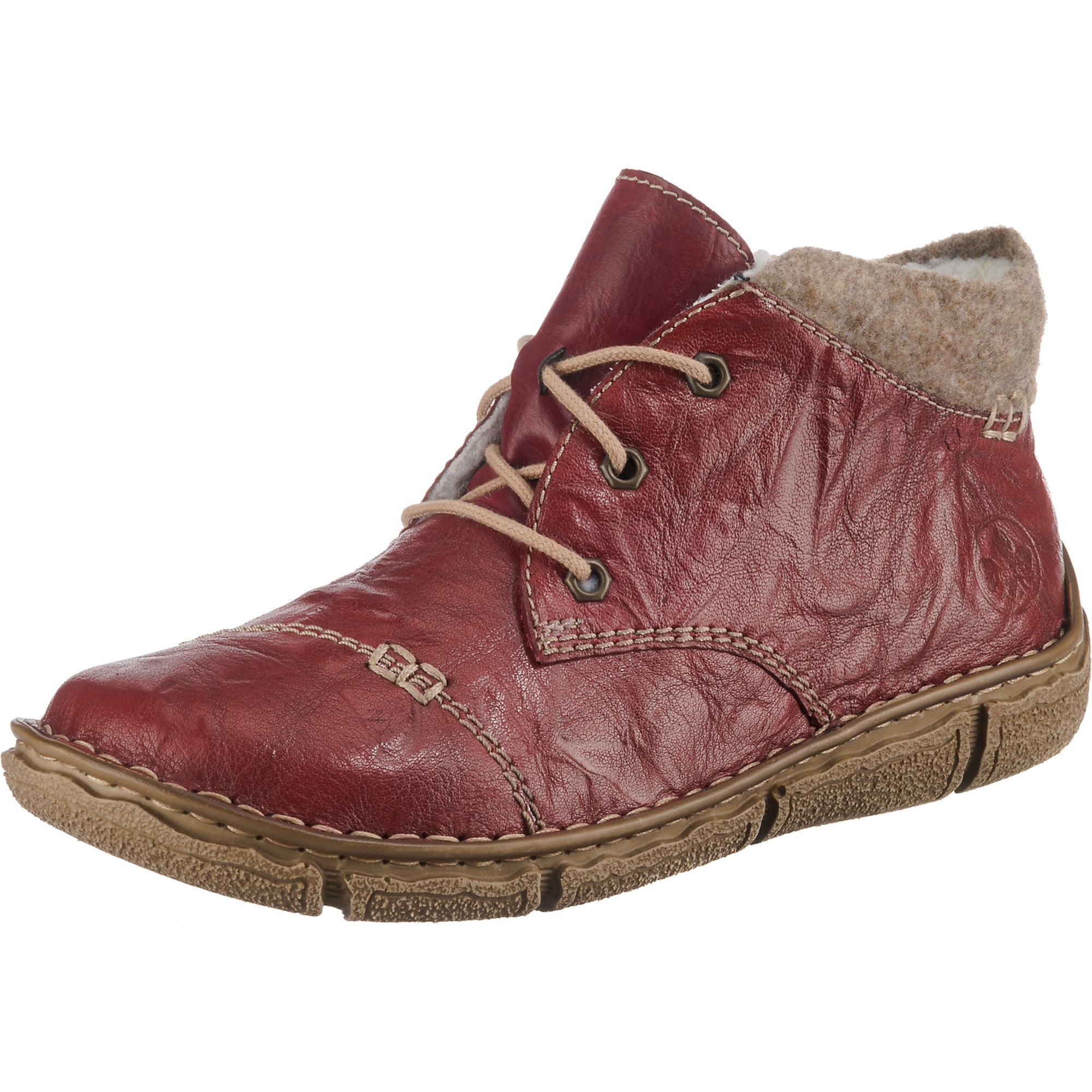 Winterstiefeletten   Schuhe > Stiefeletten > Winterstiefeletten   Rot   RIEKER