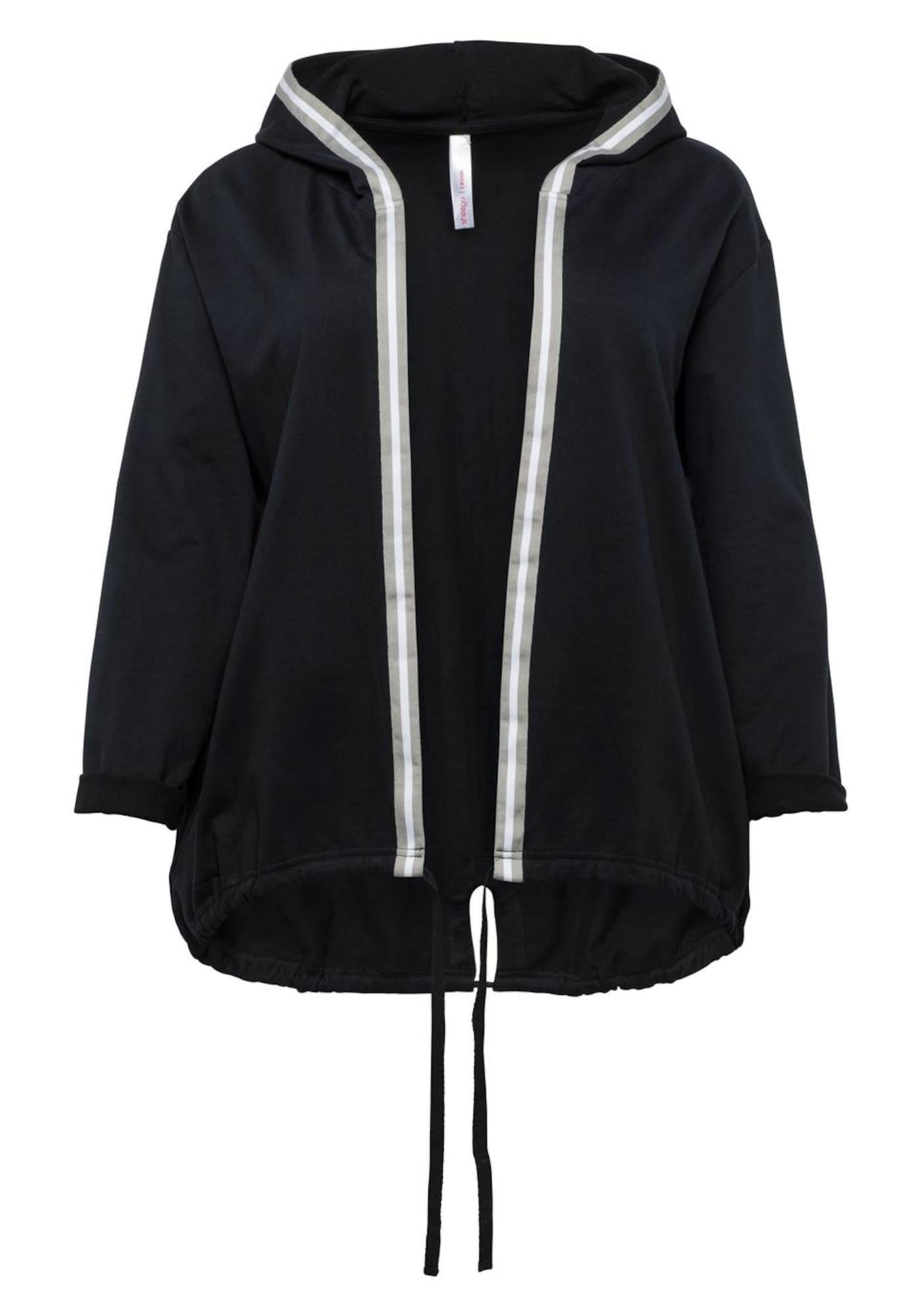 Sweatjacke | Bekleidung > Sweatshirts & -jacken > Sweatjacken | Grau - Schwarz - Weiß | SHEEGO