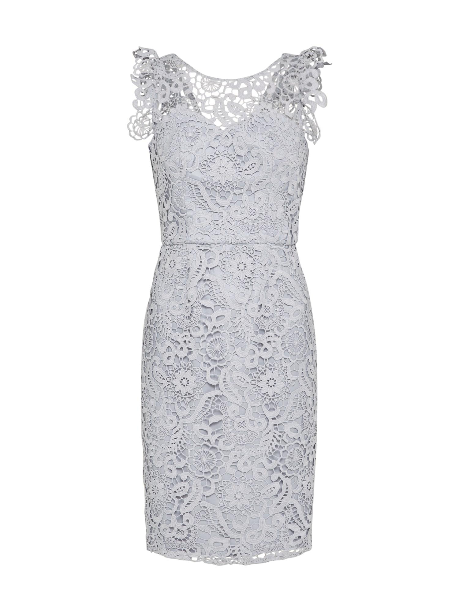 Koktejlové šaty kouřově modrá Chi Chi London
