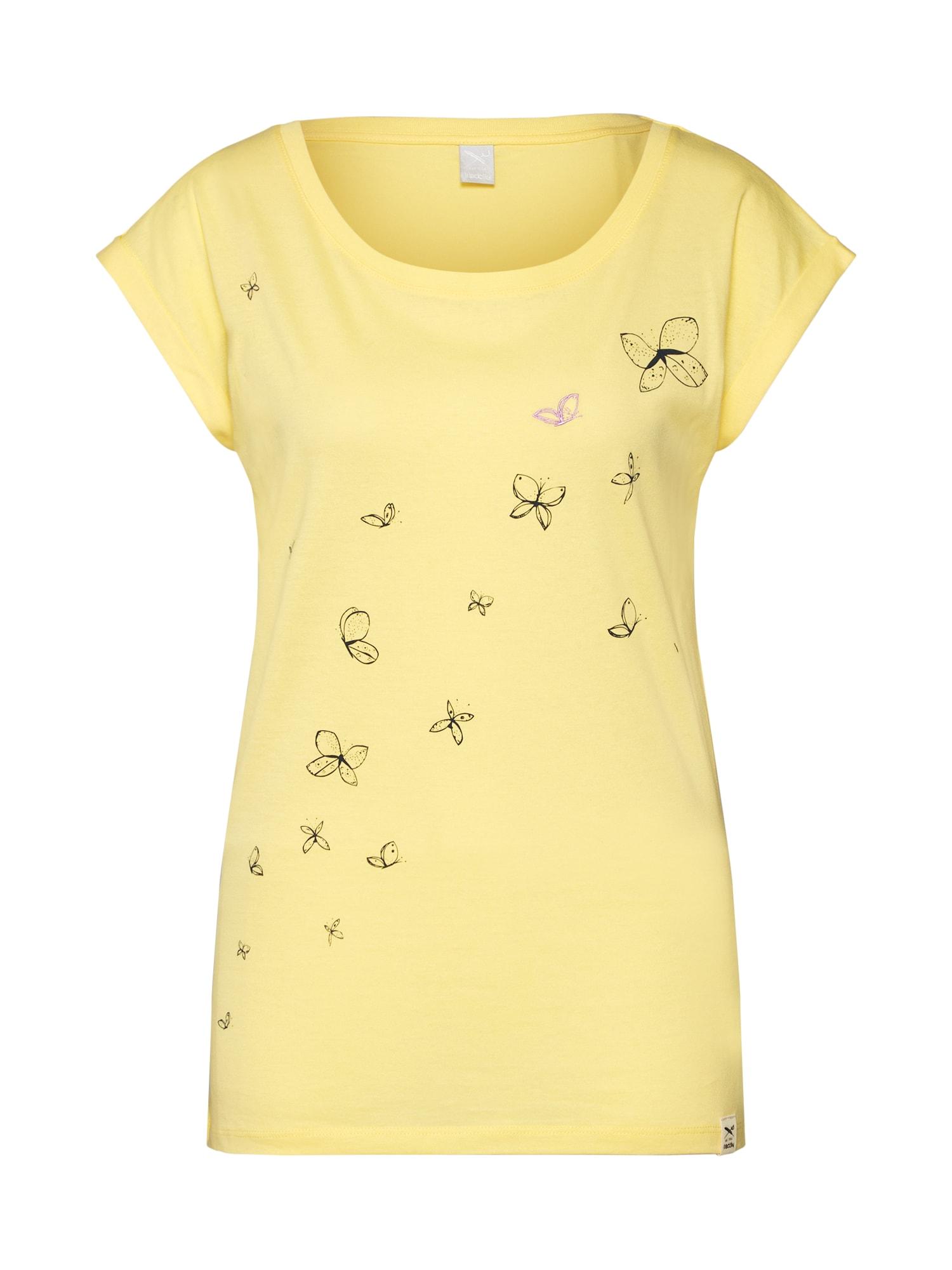 Tričko Butterflies Tee žlutá Iriedaily