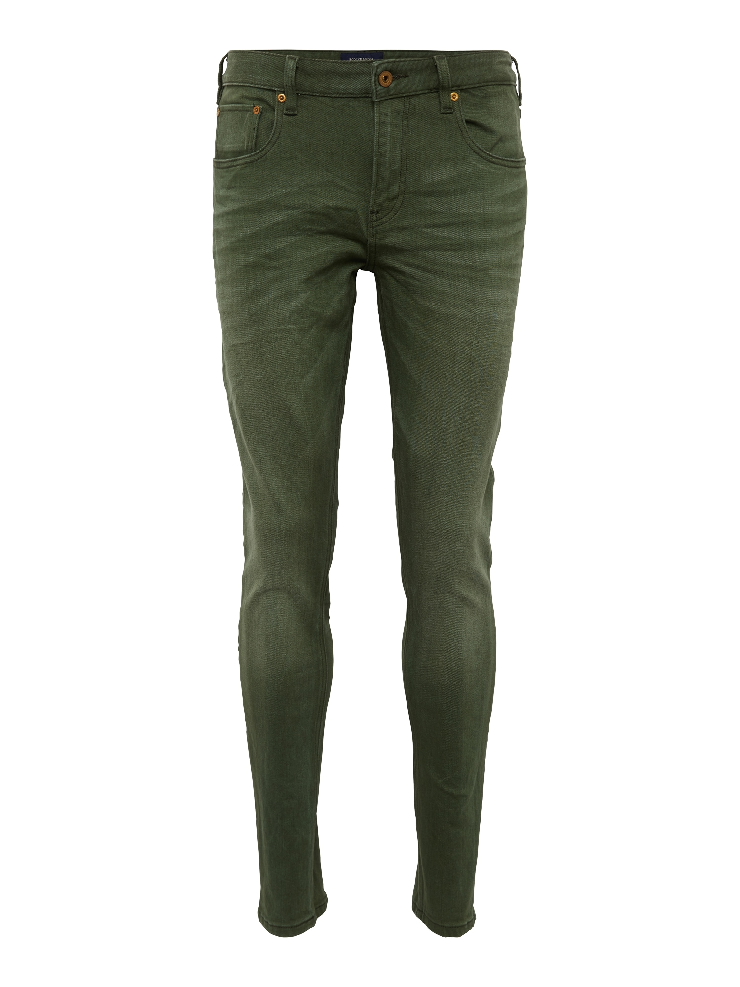 SCOTCH  and  SODA Heren Jeans Skim Yarn Dye Colours kaki