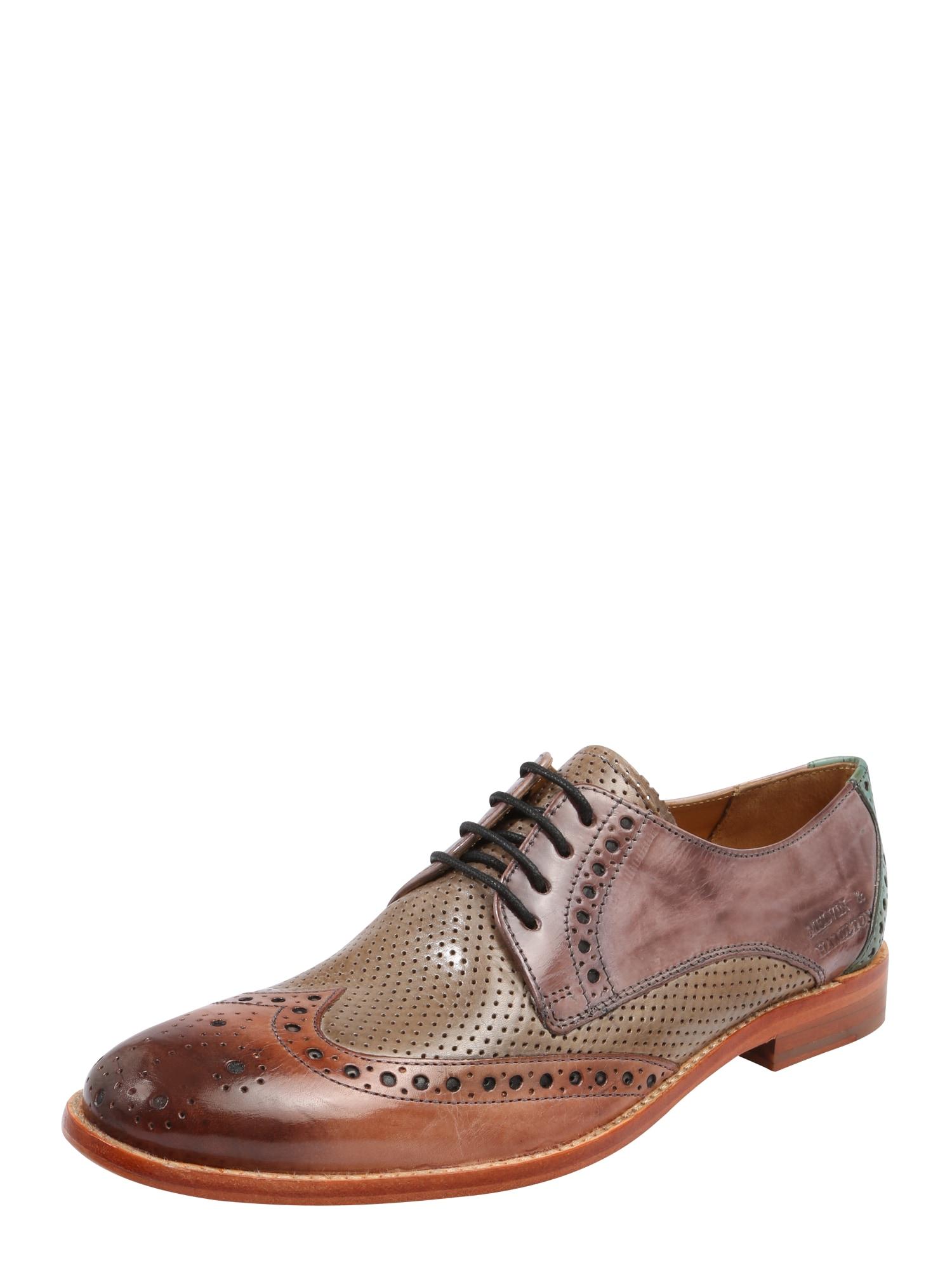 Šněrovací boty Amelie 3 hnědá smaragdová MELVIN & HAMILTON