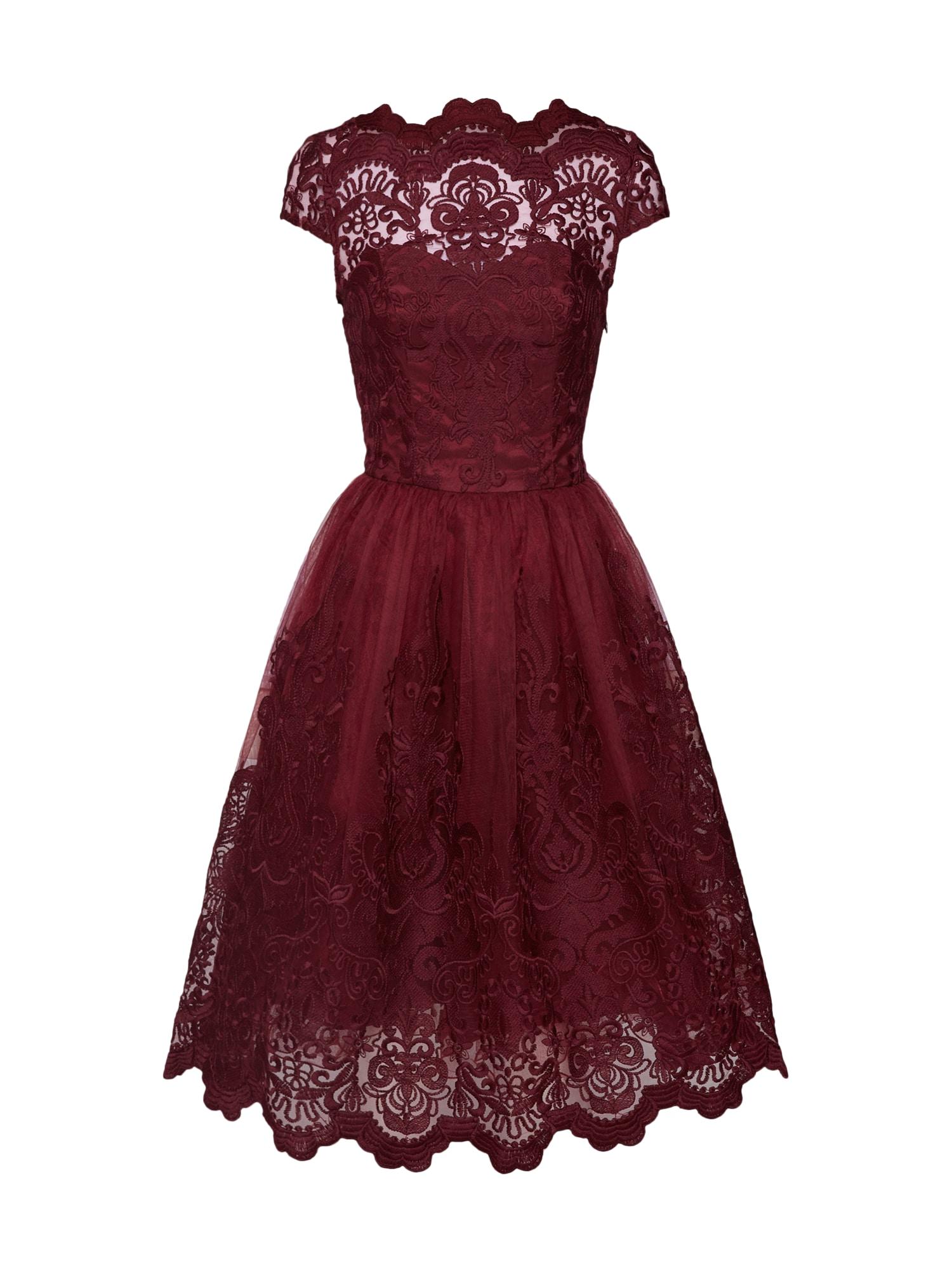 Šaty Jimima Dress bordó Chi Chi London