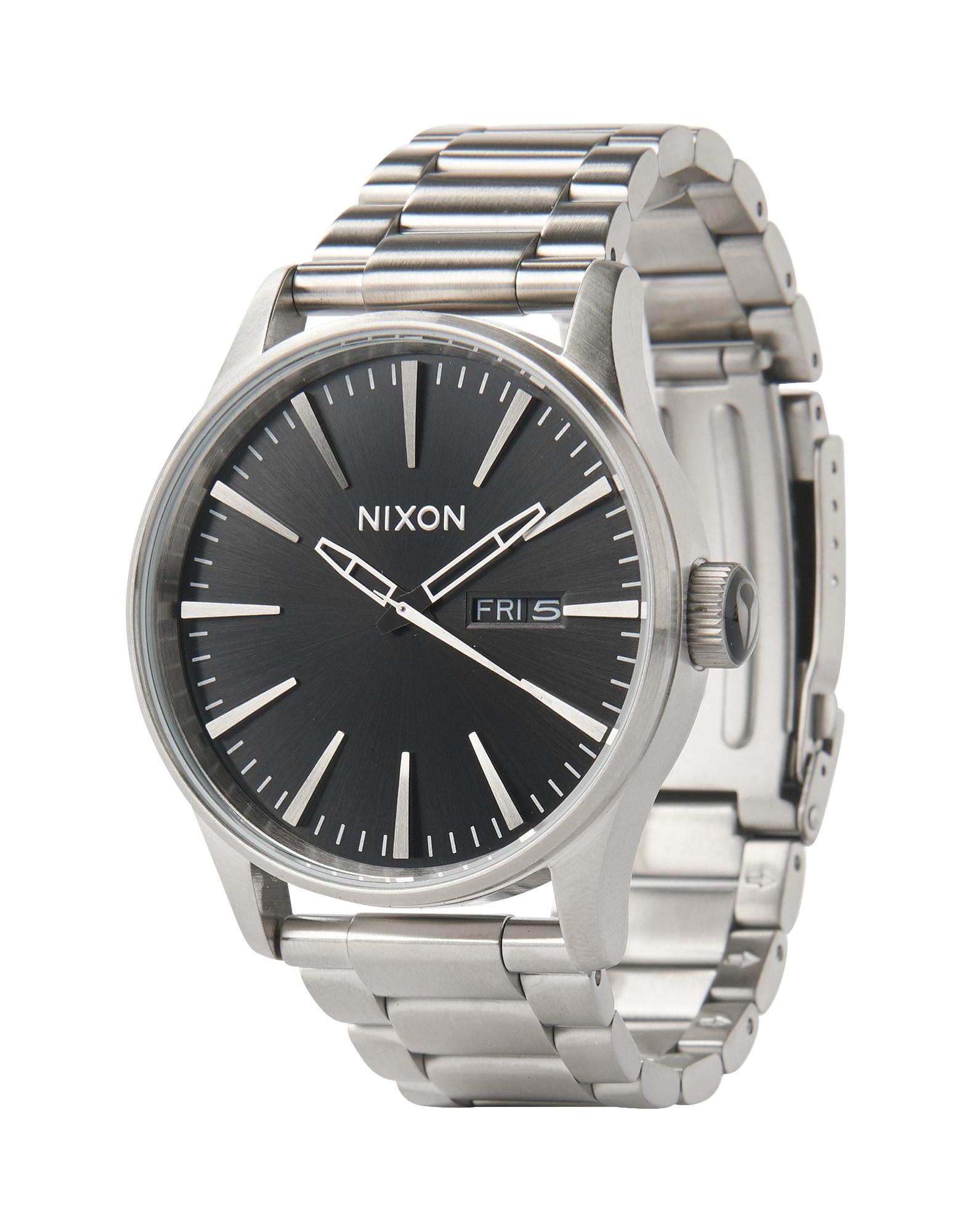 Analogové hodinky Sentry SS černá stříbrná Nixon