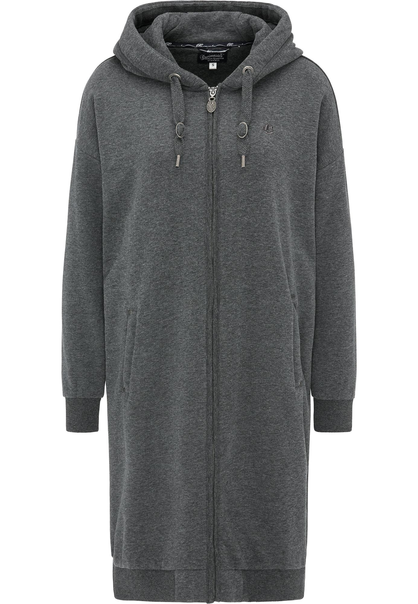 Sweatjacke | Bekleidung > Sweatshirts & -jacken > Sweatjacken | Dunkelgrau | dreimaster