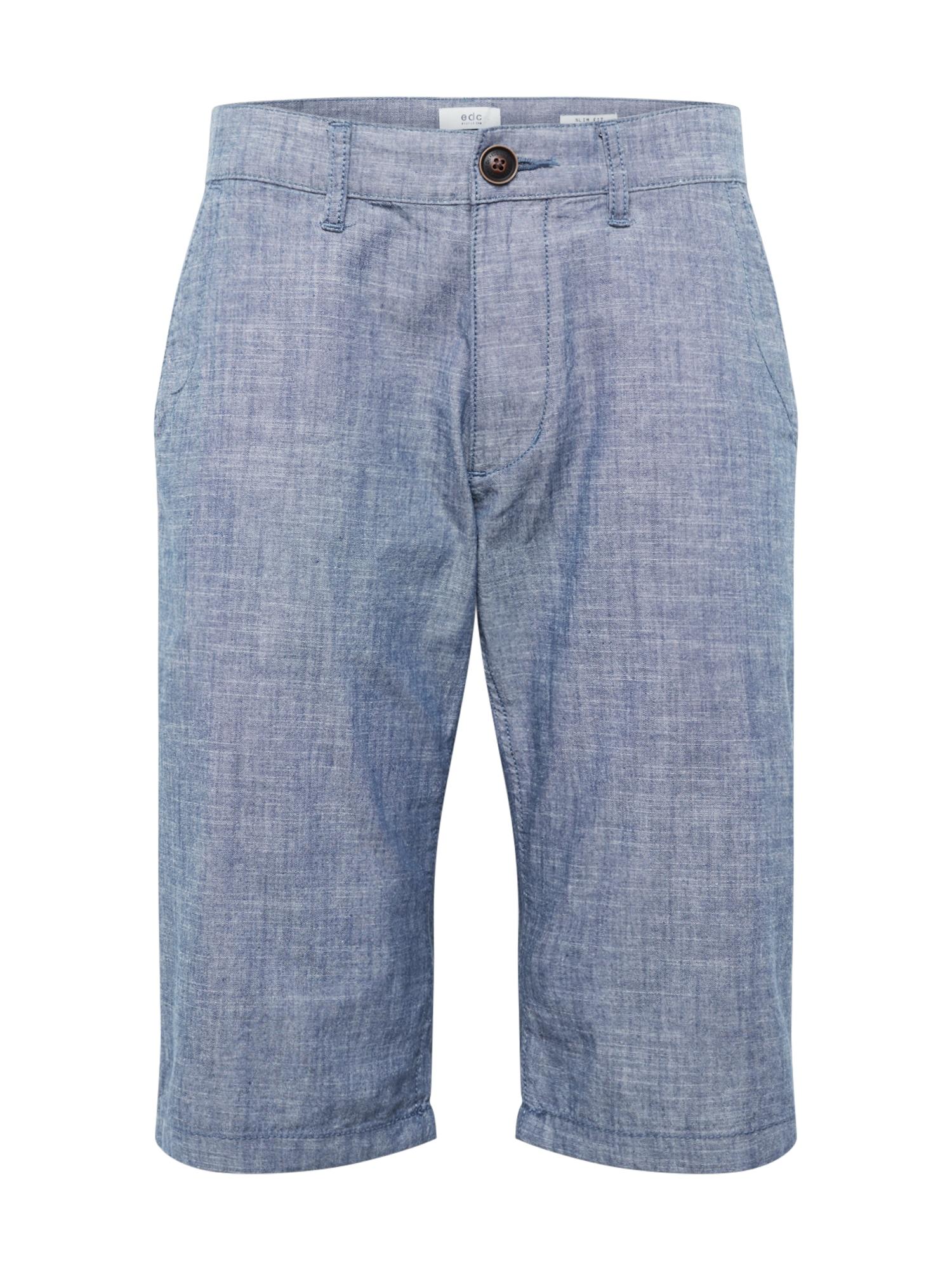Chino kalhoty chambray námořnická modř EDC BY ESPRIT
