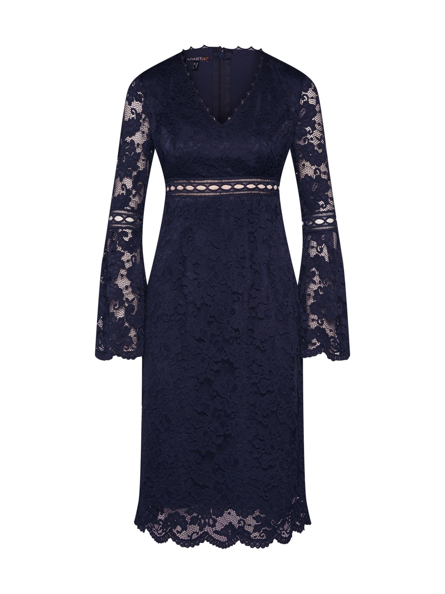 Koktejlové šaty tmavě modrá APART