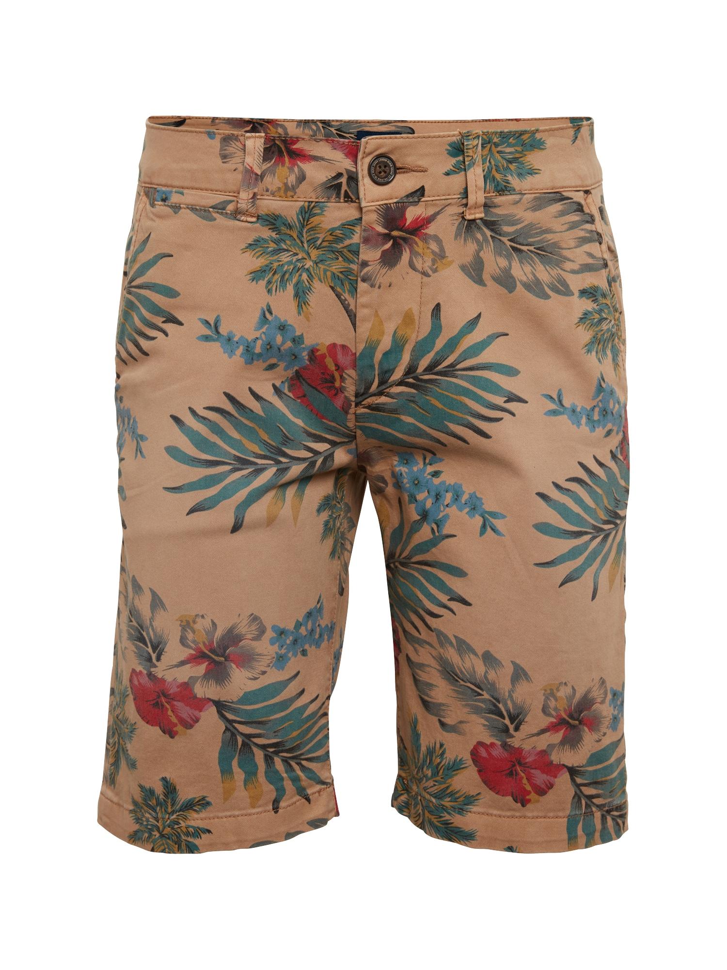 Pepe Jeans Heren Chino MC QUEEN SHORT HAWAIIAN beige gemengde kleuren