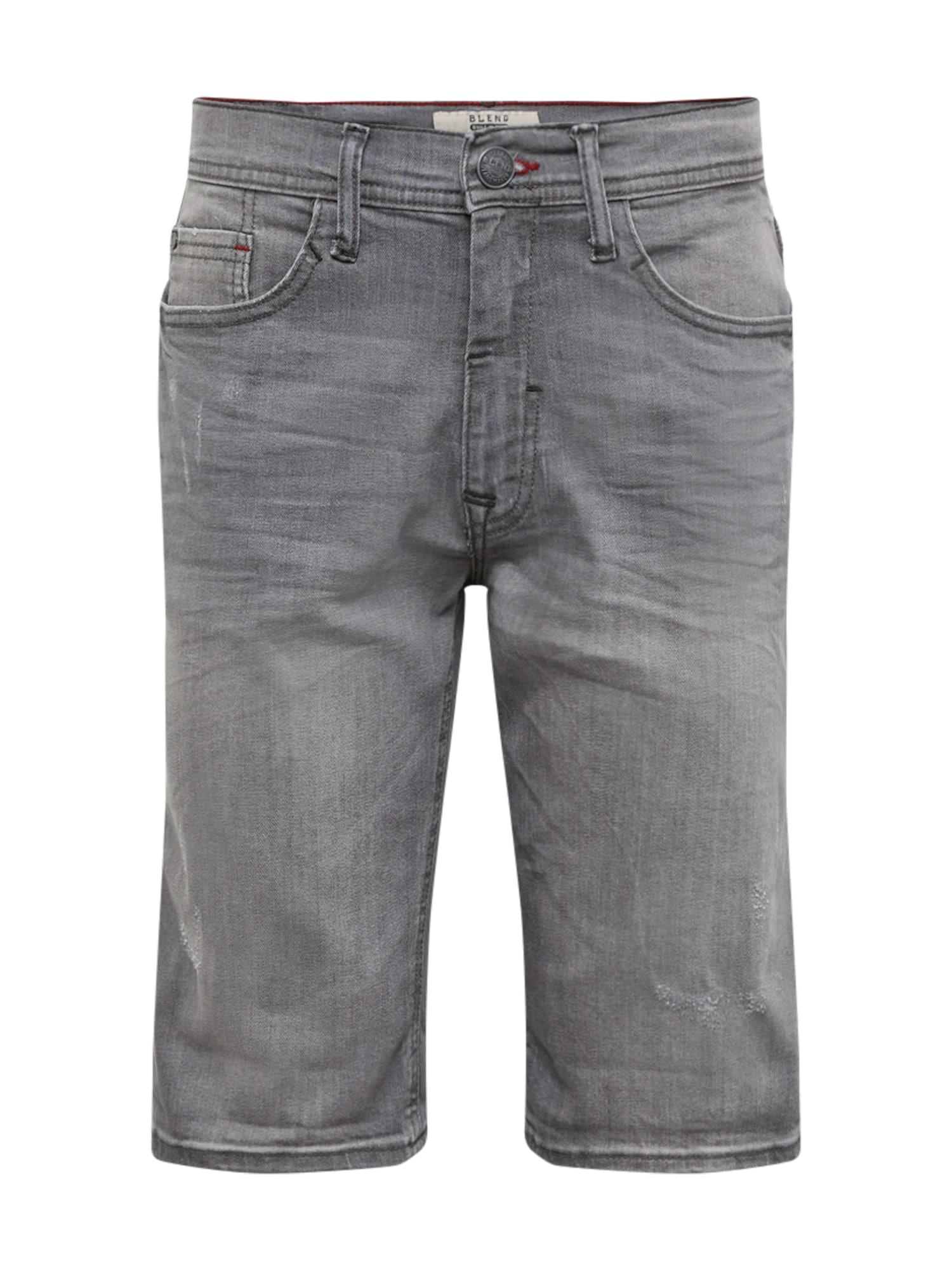 Džíny Denim Shorts Twister Slim šedá džínová BLEND