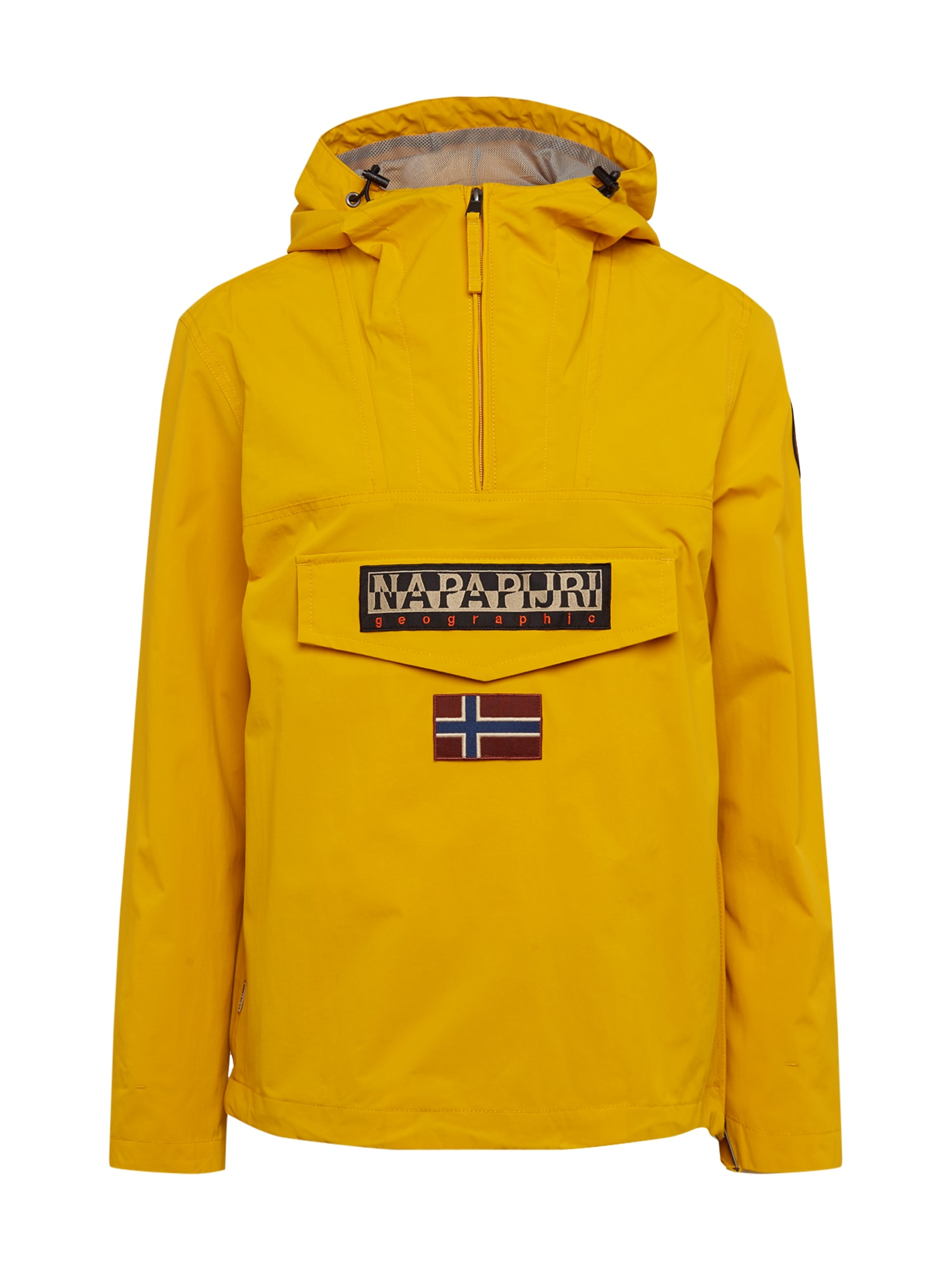 NAPAPIJRI Přechodná bunda 'RAINFOREST'  žlutá / černá / bílá