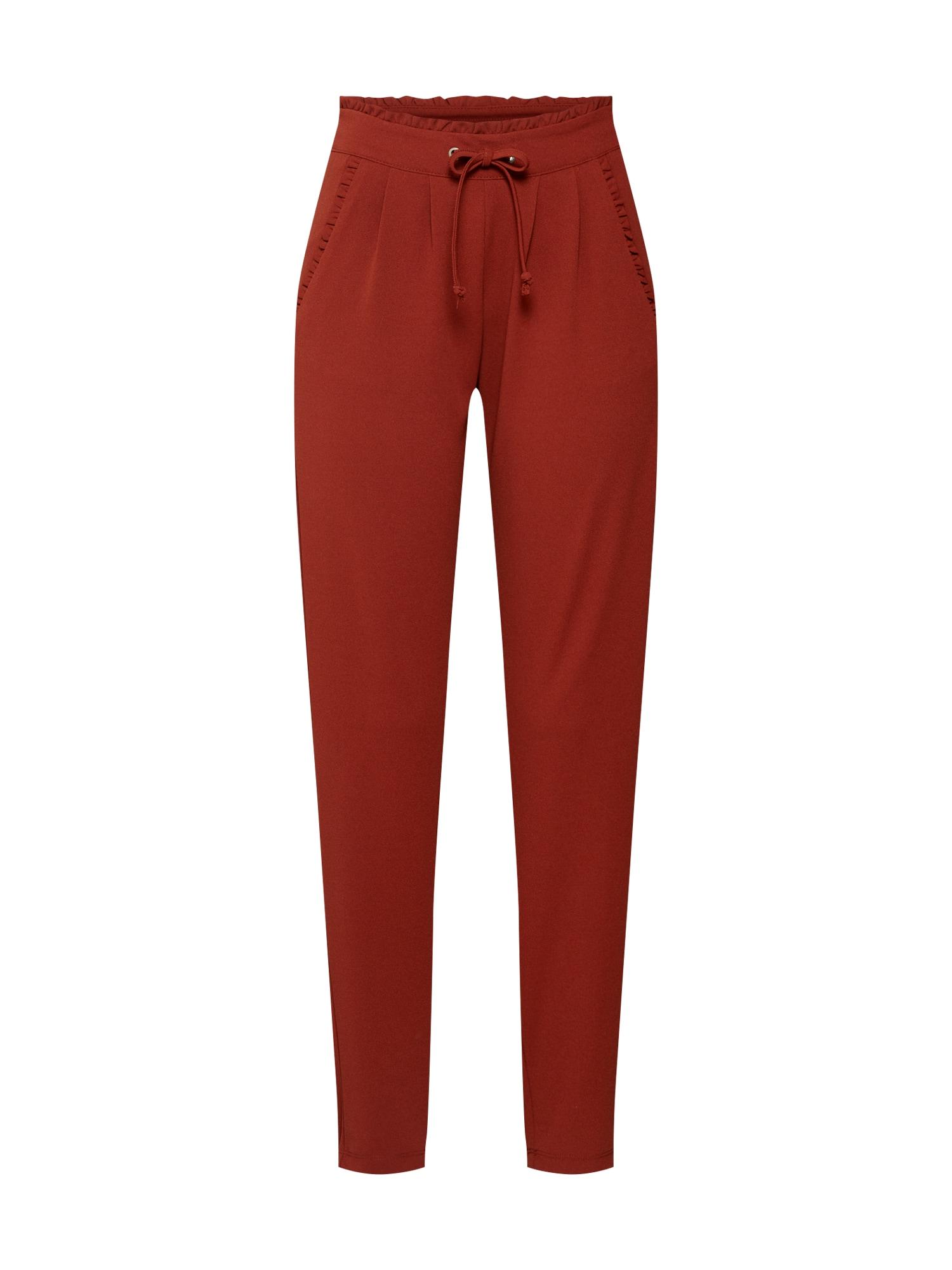 Kalhoty se sklady v pase Catia rezavě hnědá JACQUELINE De YONG