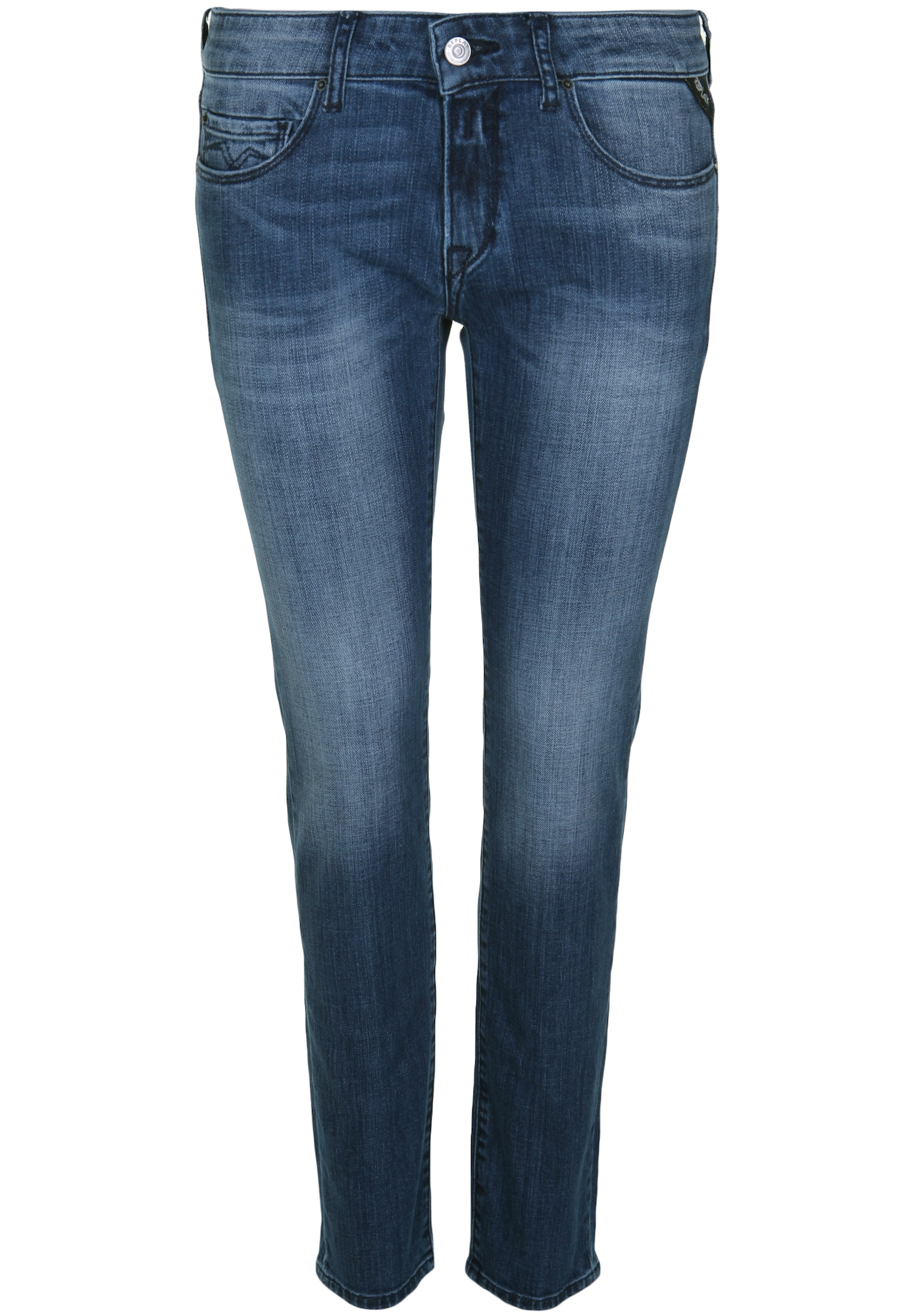 REPLAY Dames Jeans ROSE MID BLUE blauw