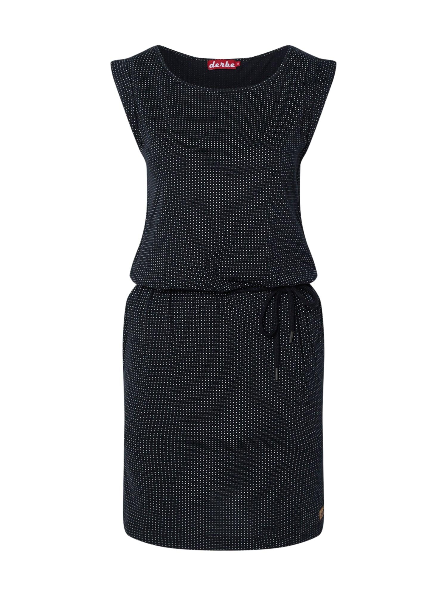 Derbe Šaty 'Petite Dots DRESS'  zmiešané farby / čierna