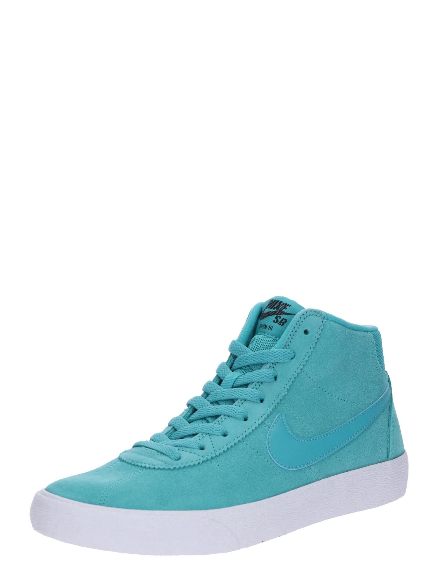 Kotníkové tenisky Bruin Hi Skateboarding Shoe modrá tyrkysová Nike SB