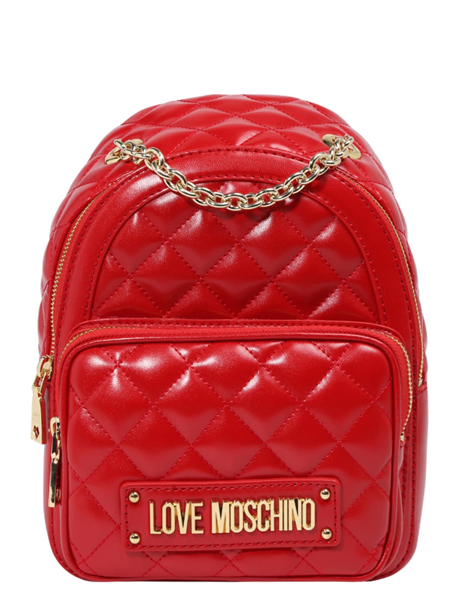 Batoh JC4006PP17  červená Love Moschino