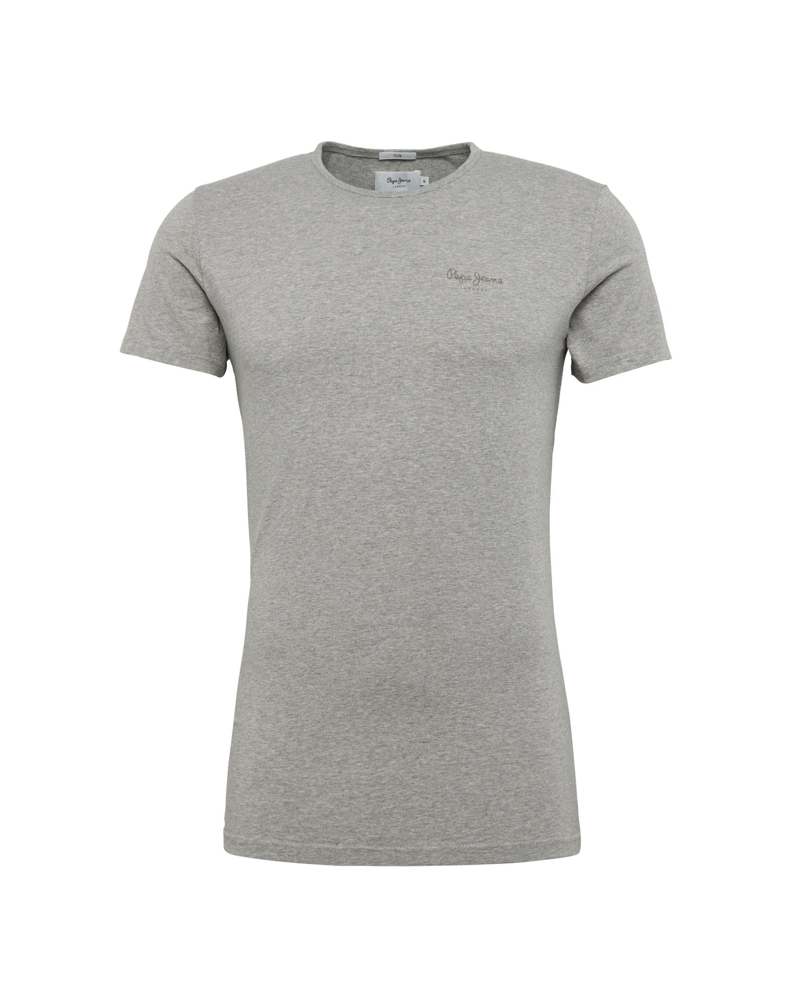 Pepe Jeans Heren Shirt ORIGINAL BASIC S S grijs gemêleerd