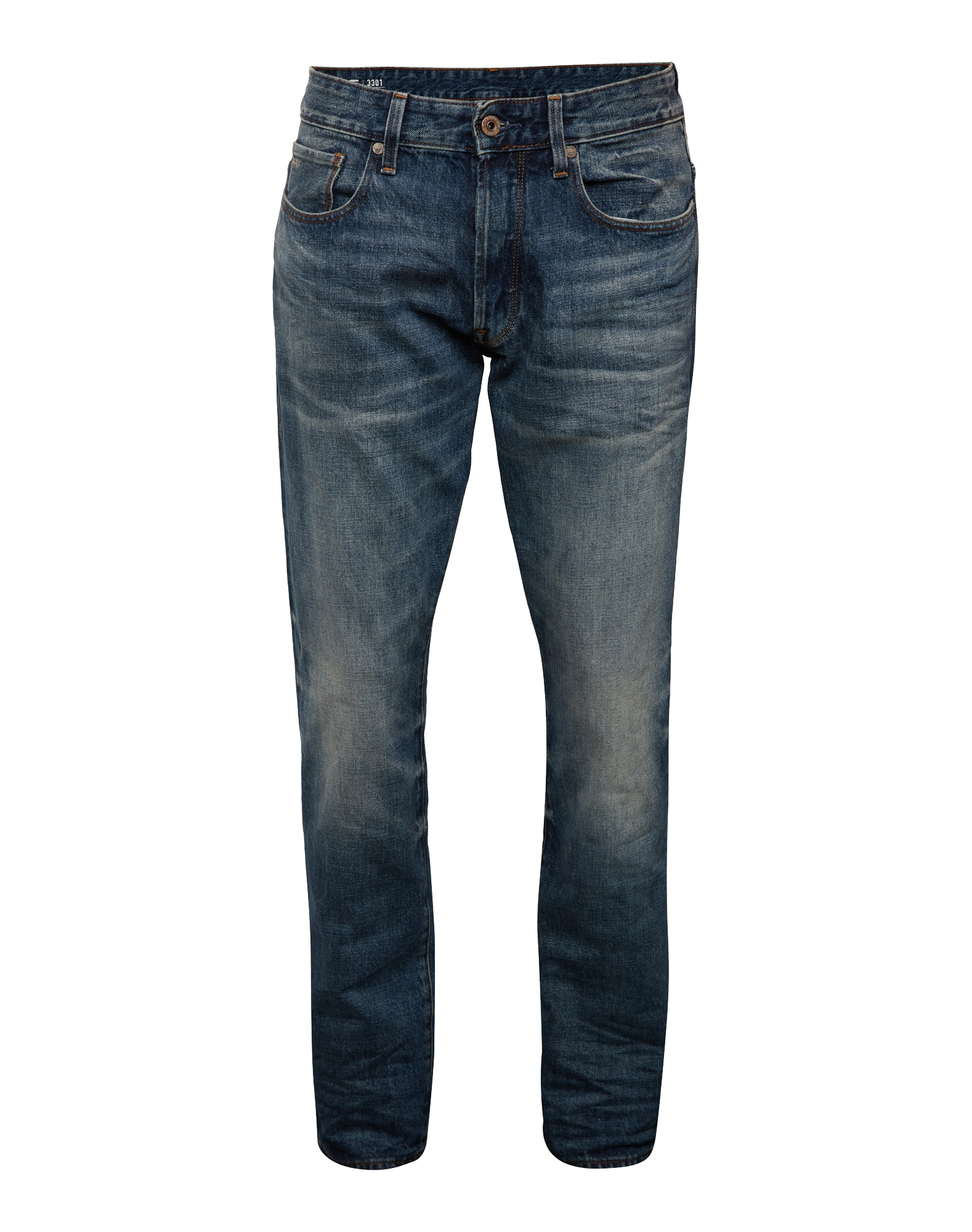 G-STAR RAW Heren Jeans 3301 Tapered blue denim