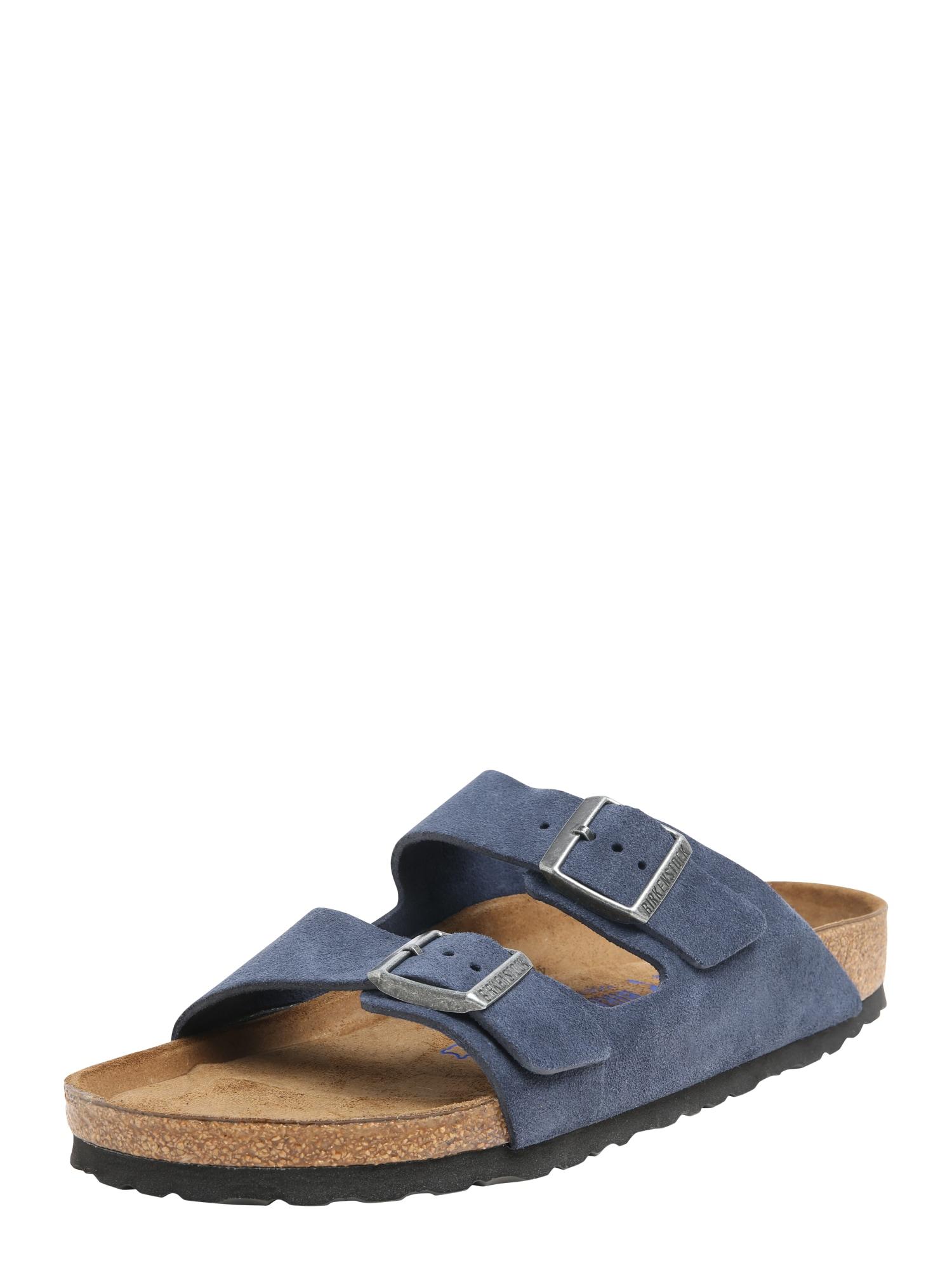 Pantofle Arizona Suede tmavě modrá BIRKENSTOCK