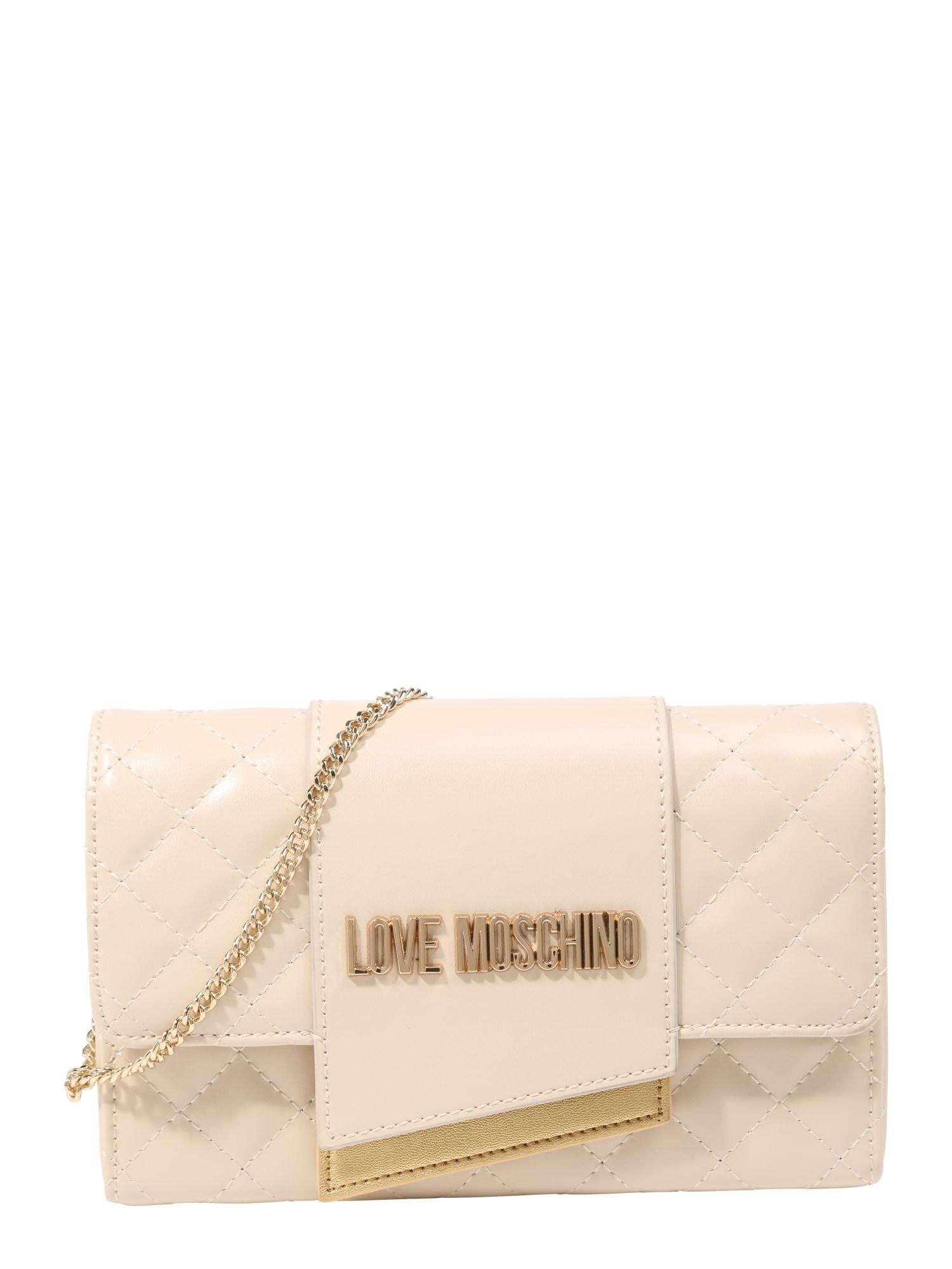 Taška přes rameno béžová zlatá Love Moschino