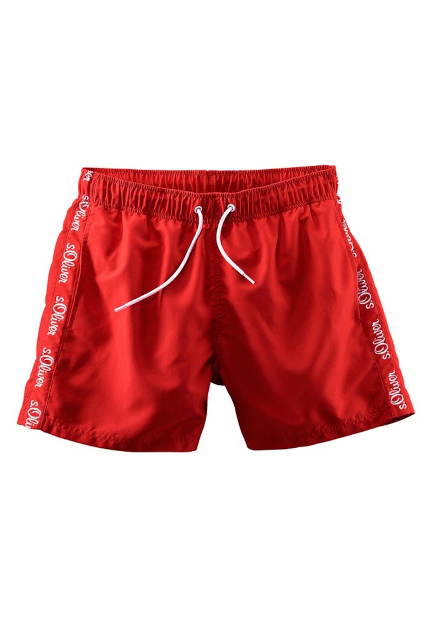 Plavecké šortky červená S.Oliver RED LABEL