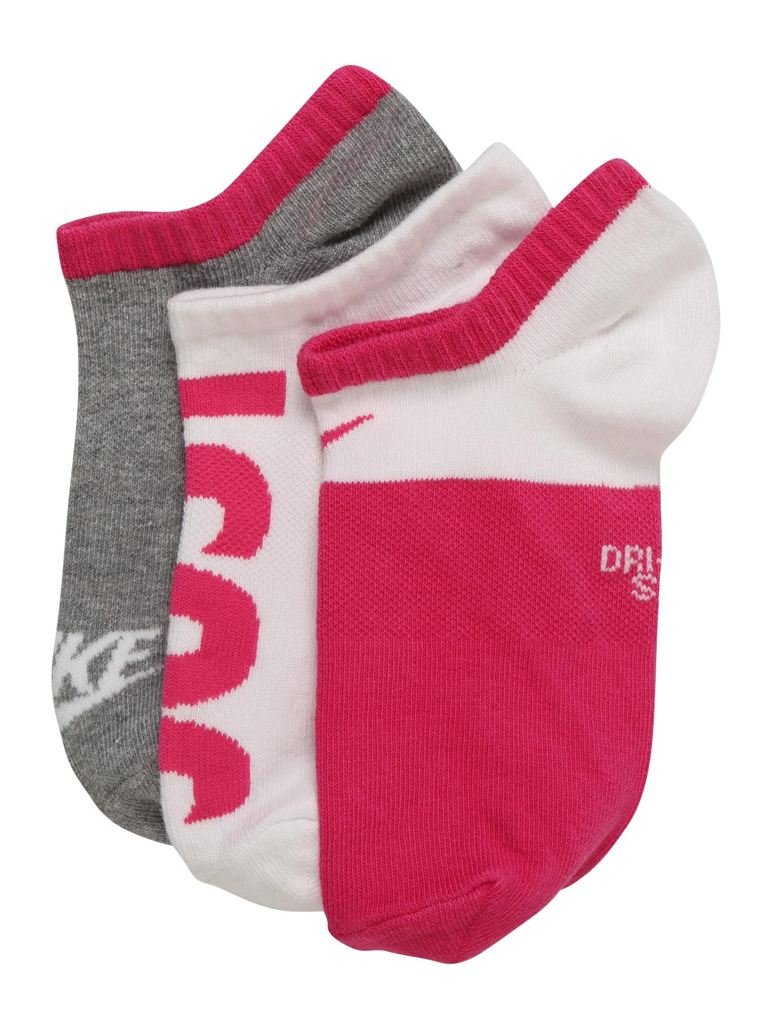 Ponožky světle šedá pink Nike Sportswear