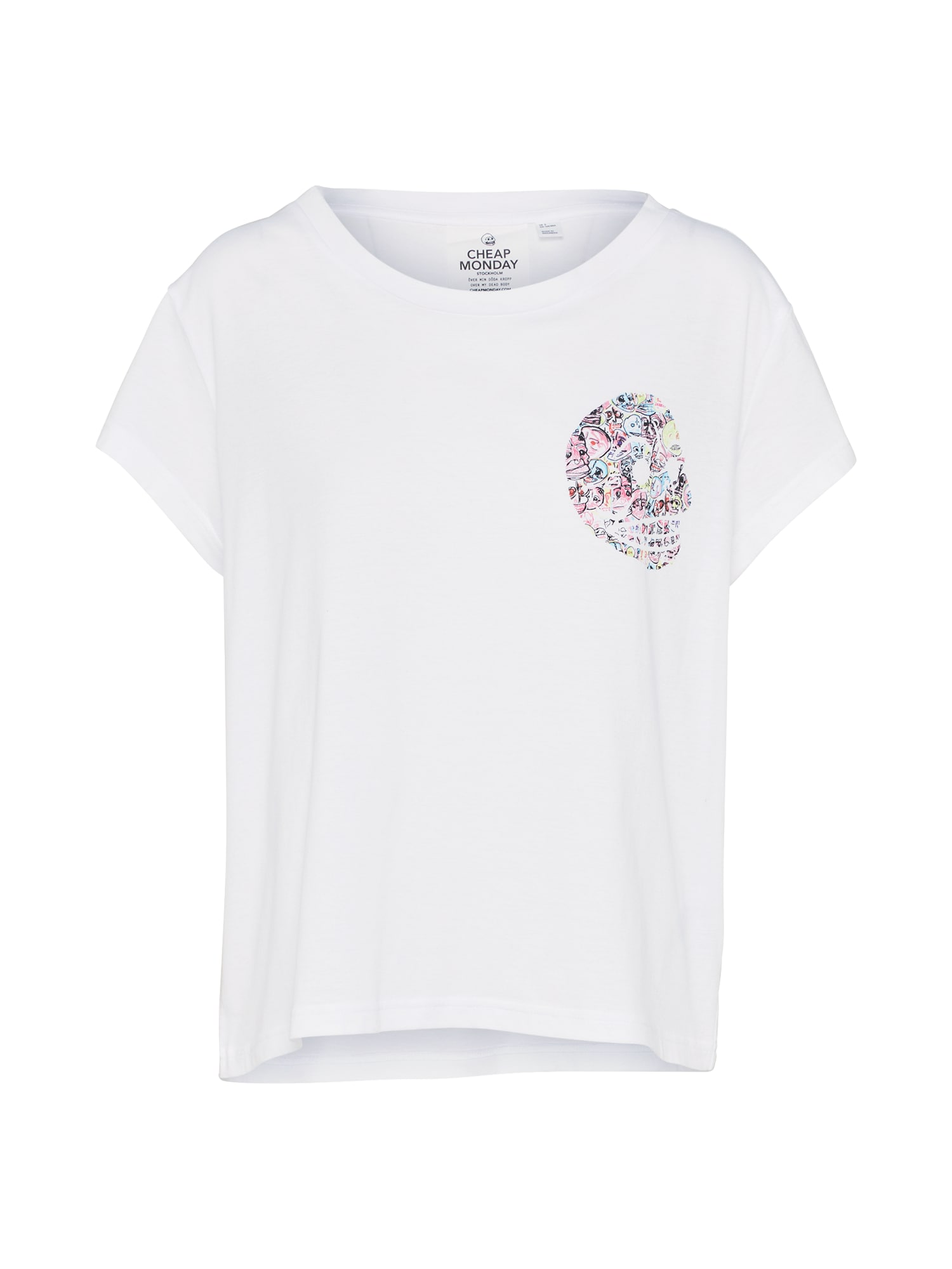 CHEAP MONDAY Dames Shirt Have tee Skull wit