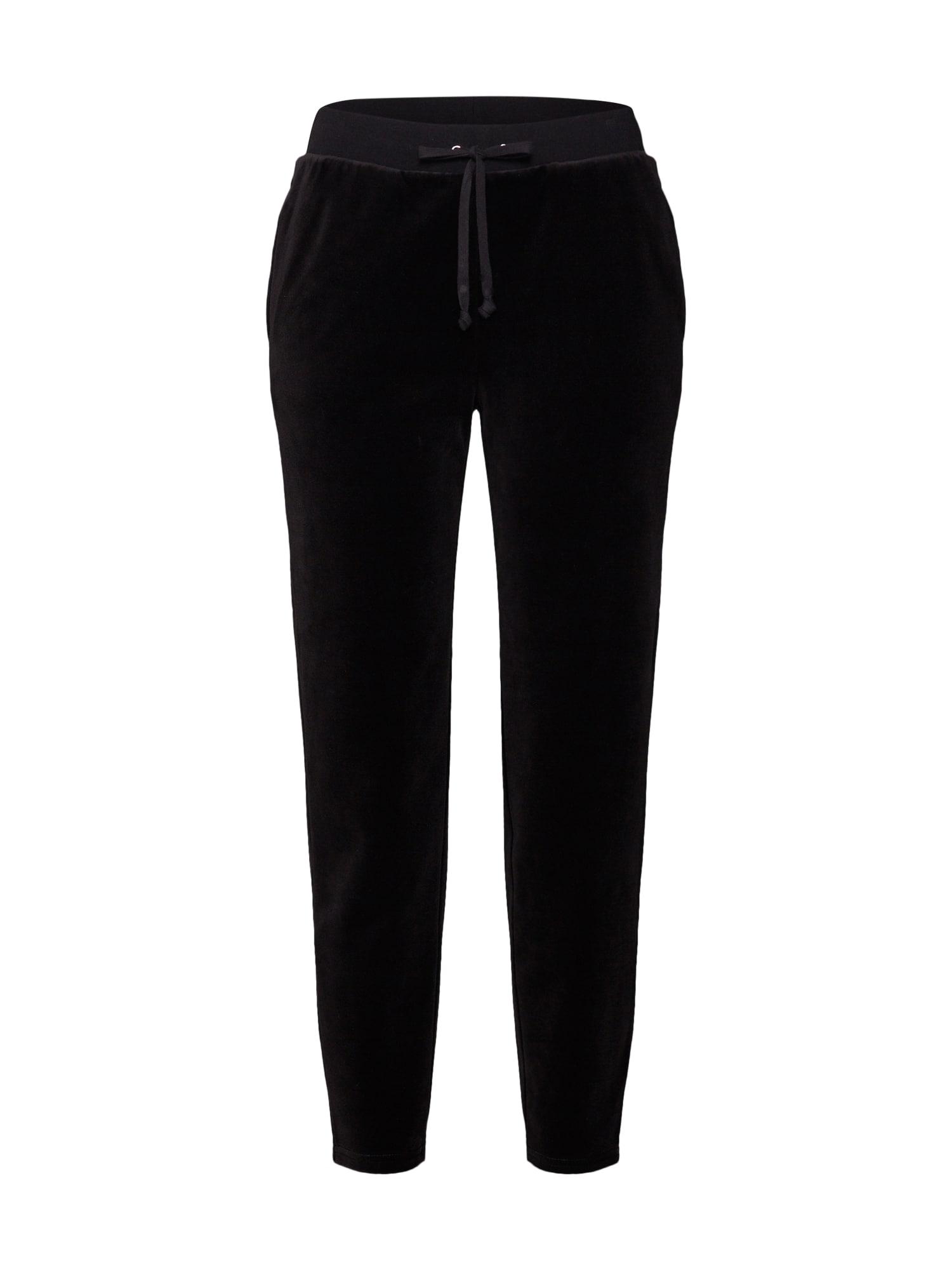 Kalhoty SCRIPT růžová černá Juicy Couture Black Label