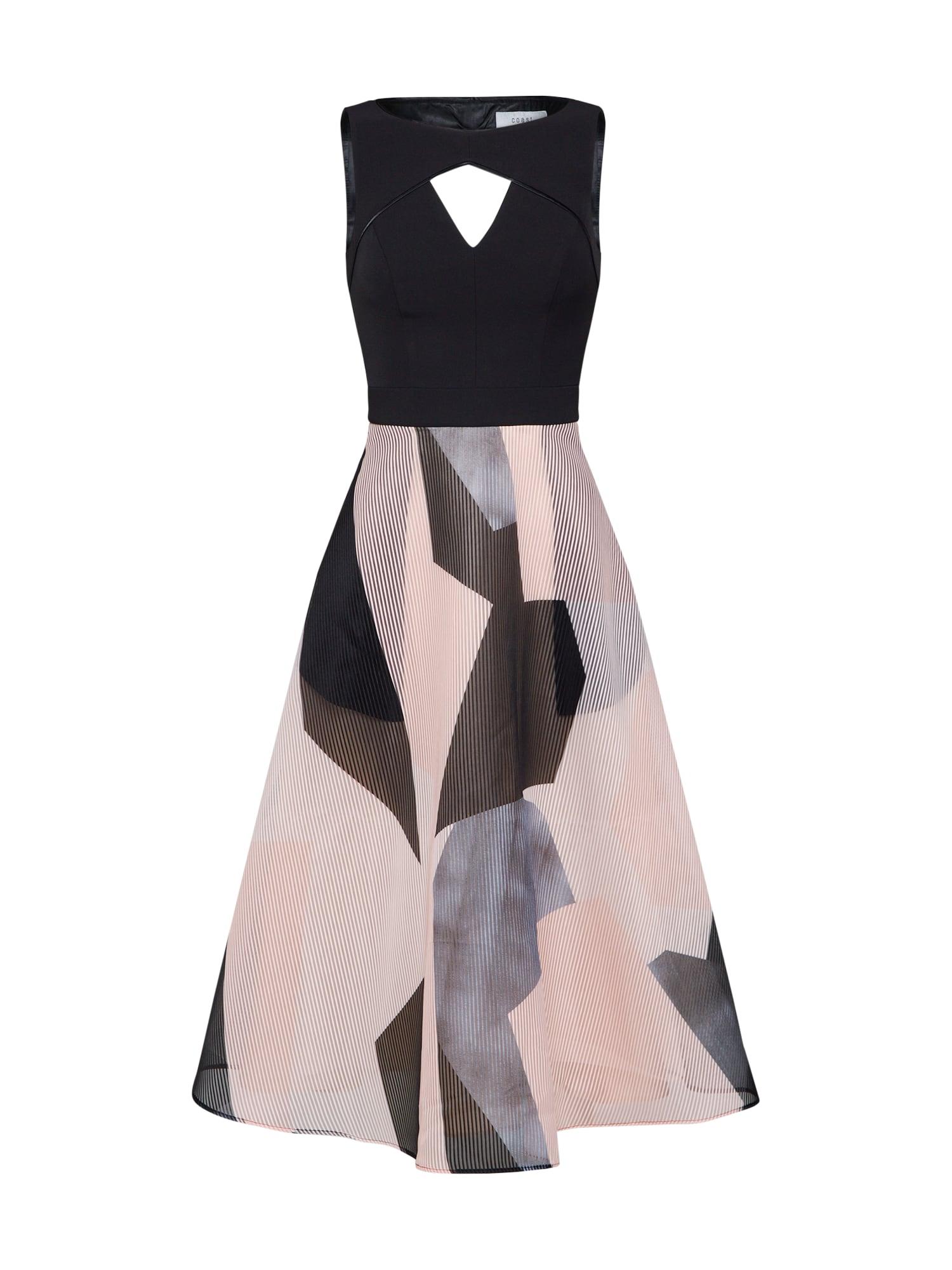 Koktejlové šaty Aria Ava mix barev černá Coast