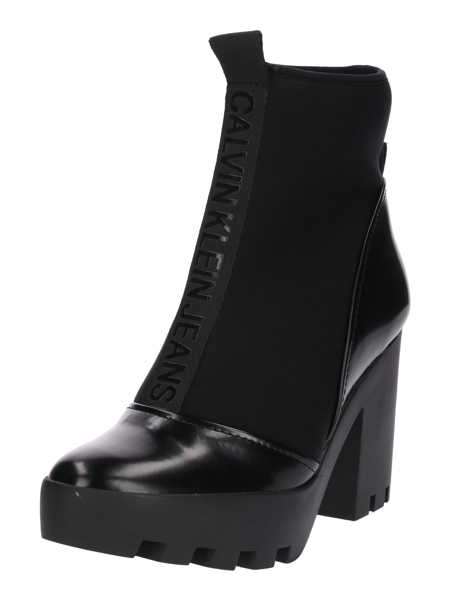 Nízké kozačky STEFANIA černá Calvin Klein Jeans