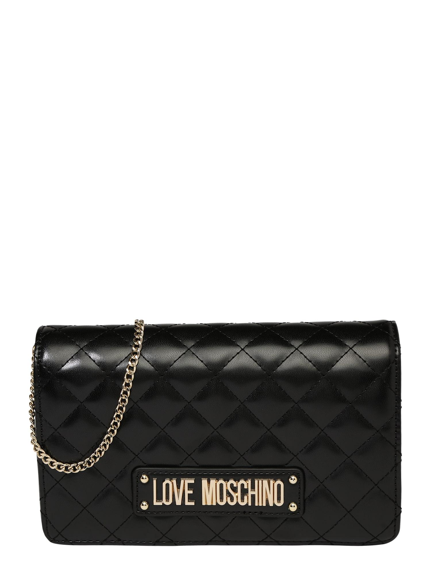 Taška přes rameno BORSA QUILTED NAPPA PU NERO černá Love Moschino