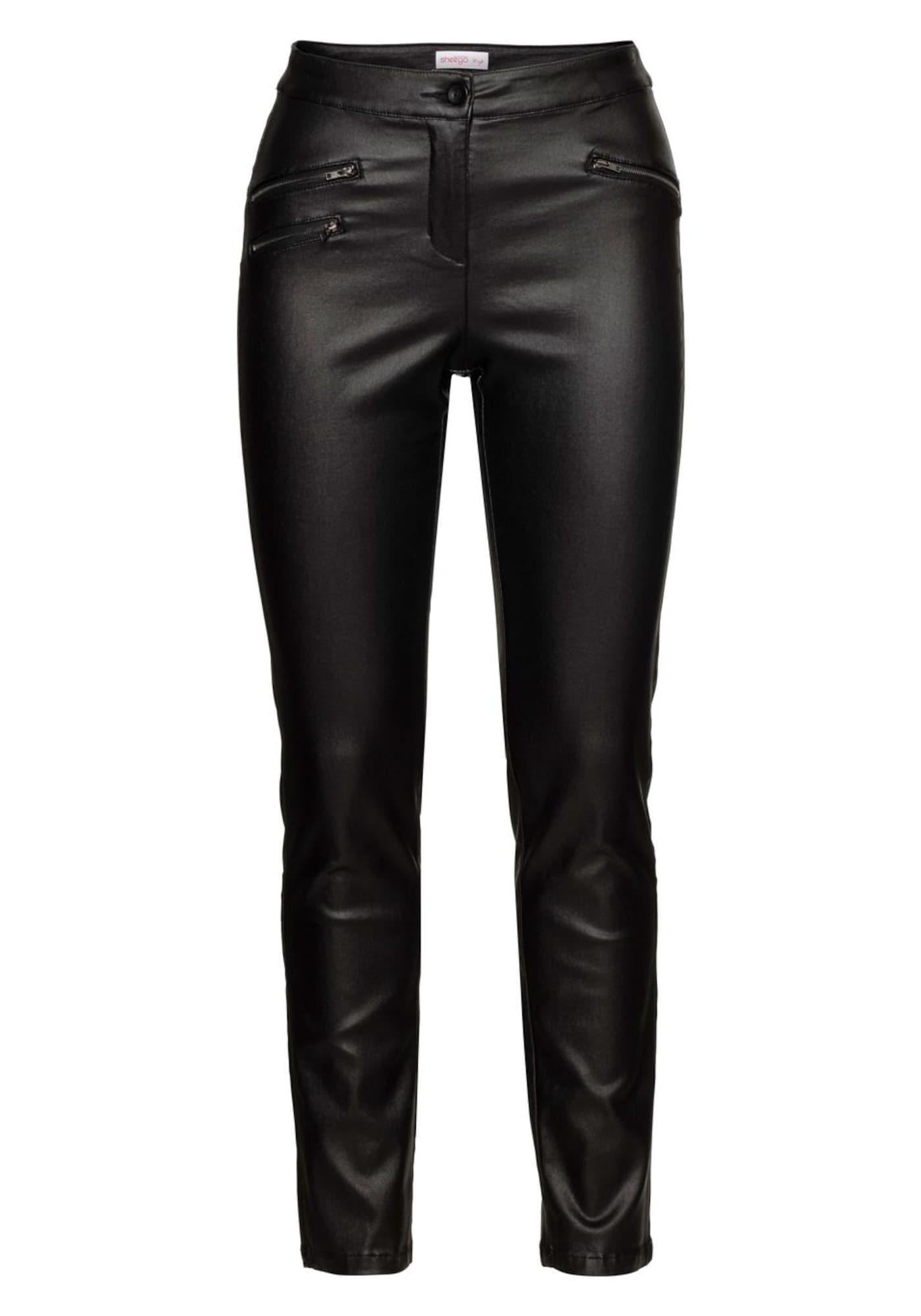 Kunstlederhose | Bekleidung > Hosen > Lederhosen & Kunstlederhosen | Schwarz | SHEEGO