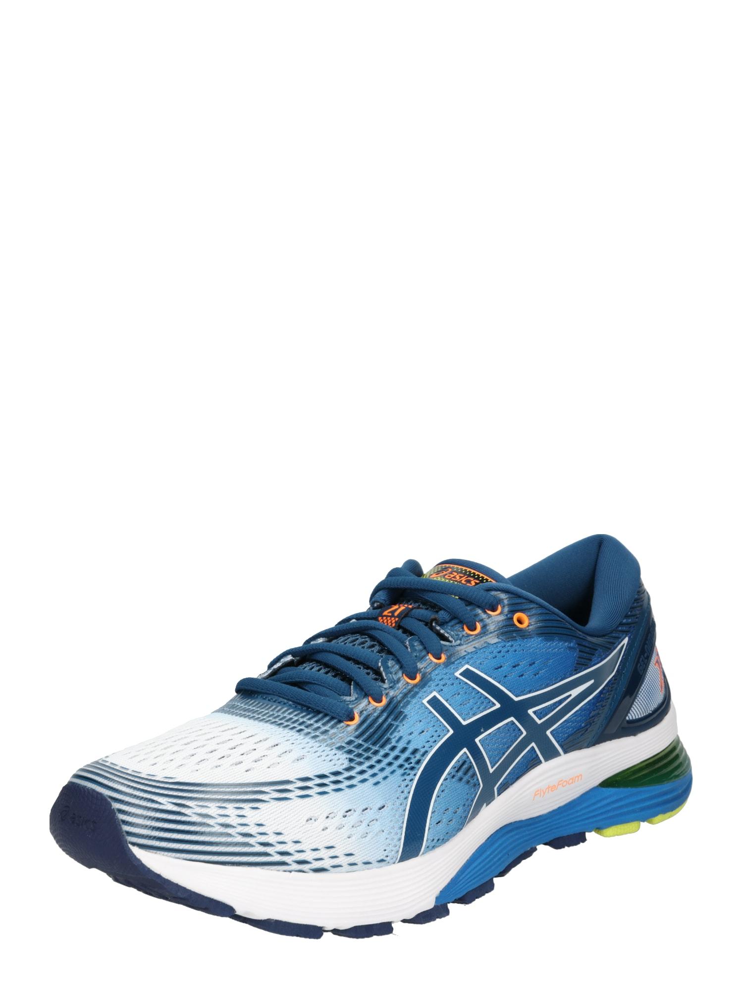 Běžecká obuv Gel Nimbus 21 modrá žlutá bílá ASICS