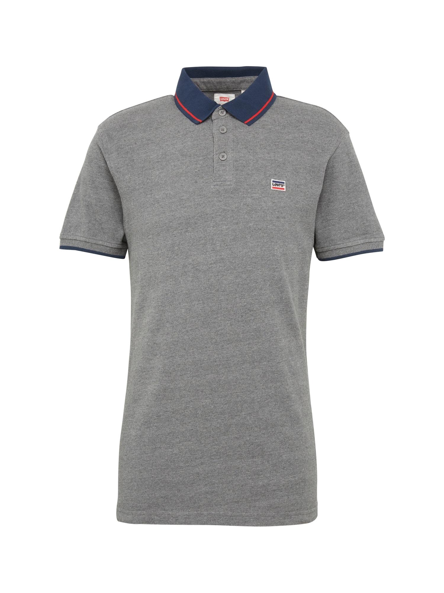 LEVI'S Heren Shirt BREAKER LOGO POLO grijs gemêleerd