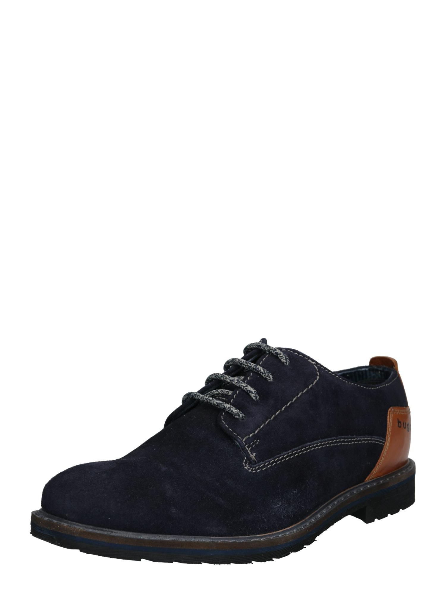 Šněrovací boty Marolo Comfort tmavě modrá koňaková Bugatti