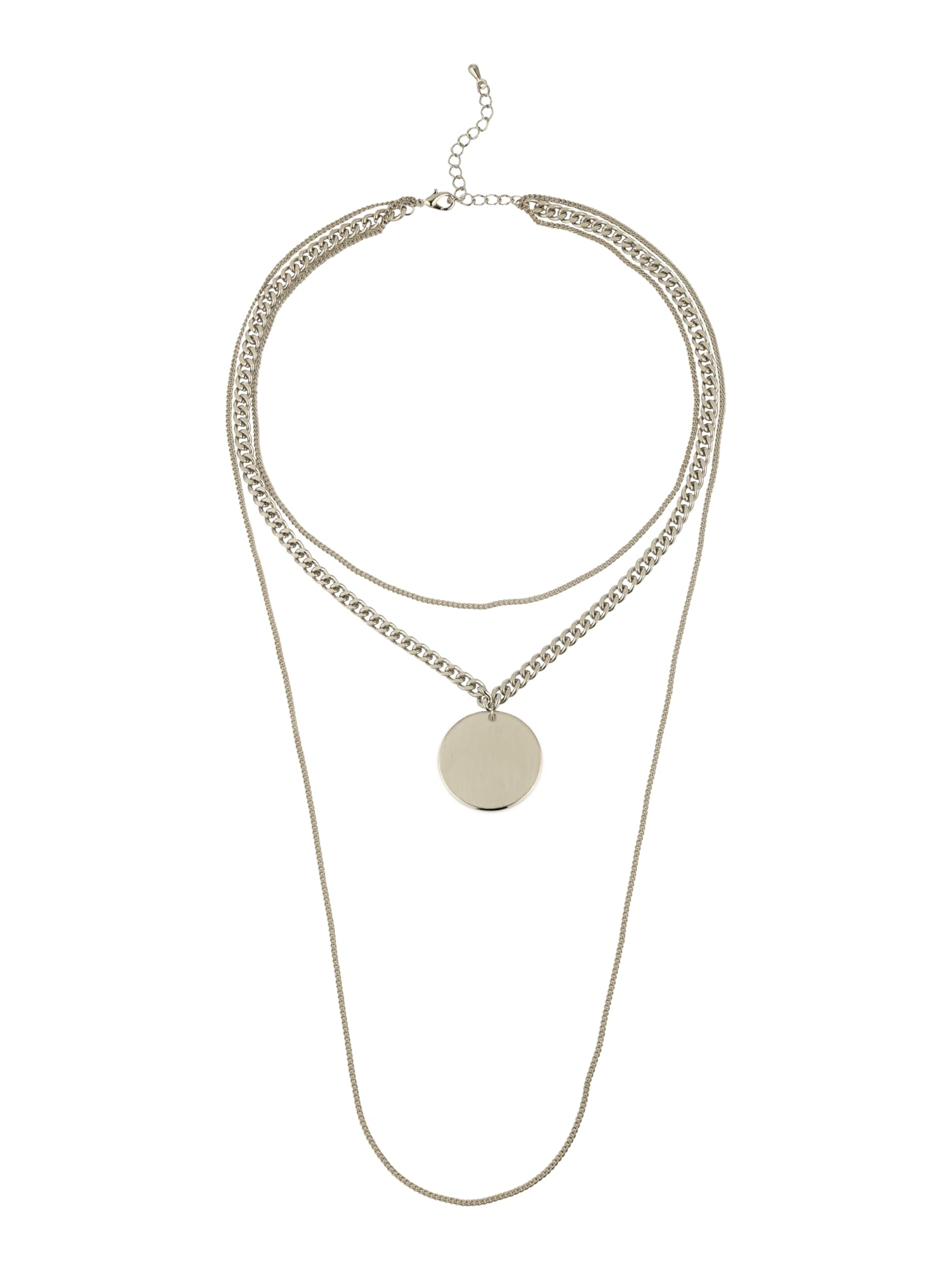 Blond ACCESSORIES, Dames Ketting 'Double chain', zilver