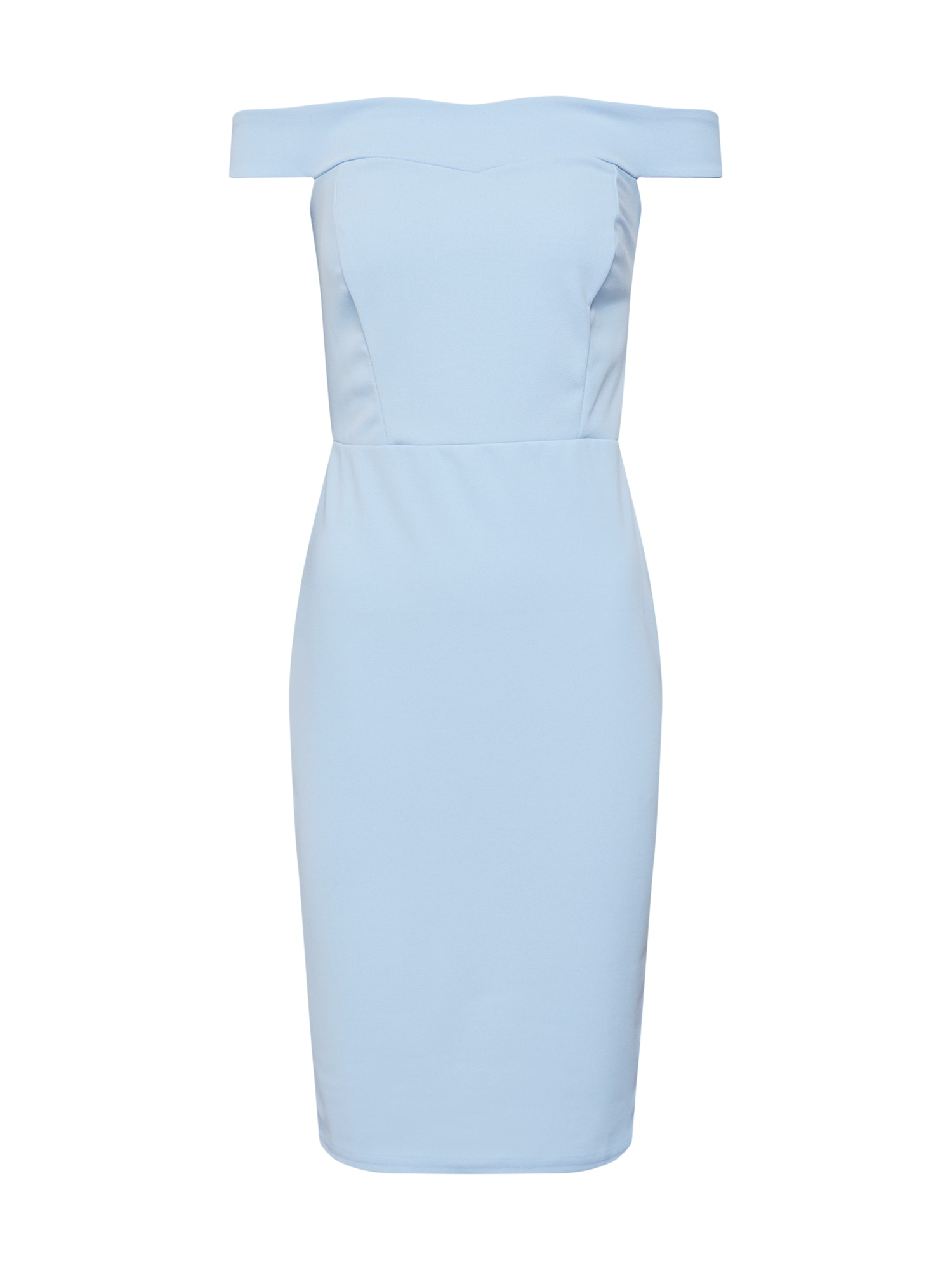 Pouzdrové šaty Scuba Bardot světlemodrá Missguided