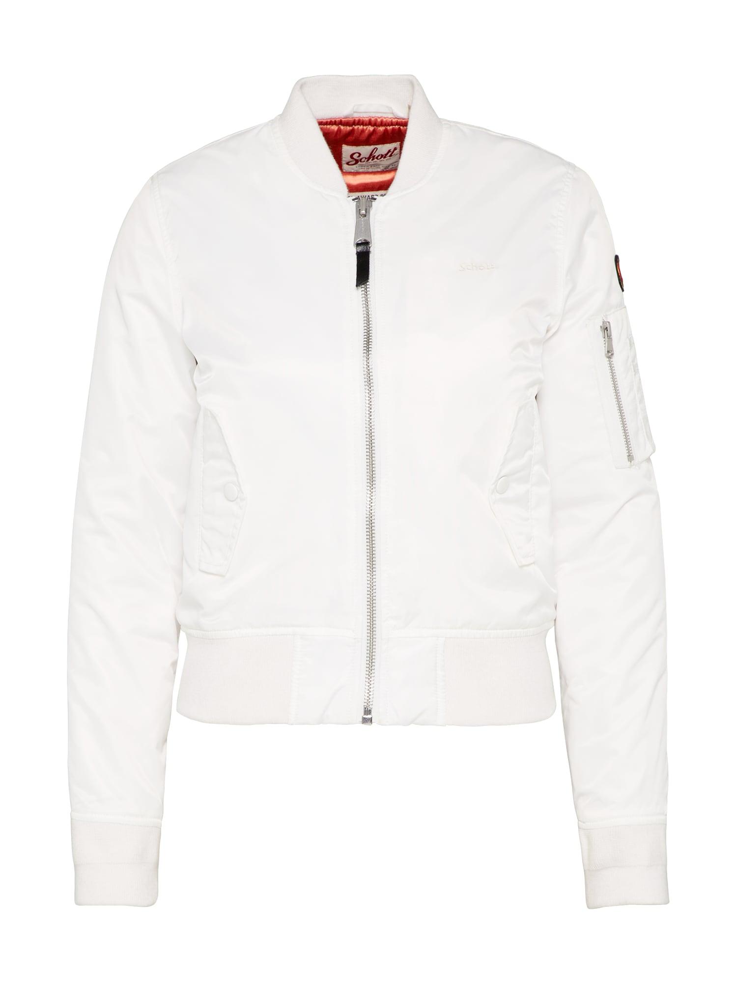 Přechodná bunda bílá Schott NYC