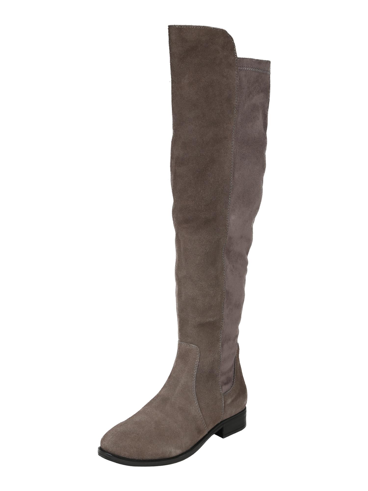 Kozačky nad kolena Carolina tmavě šedá ABOUT YOU