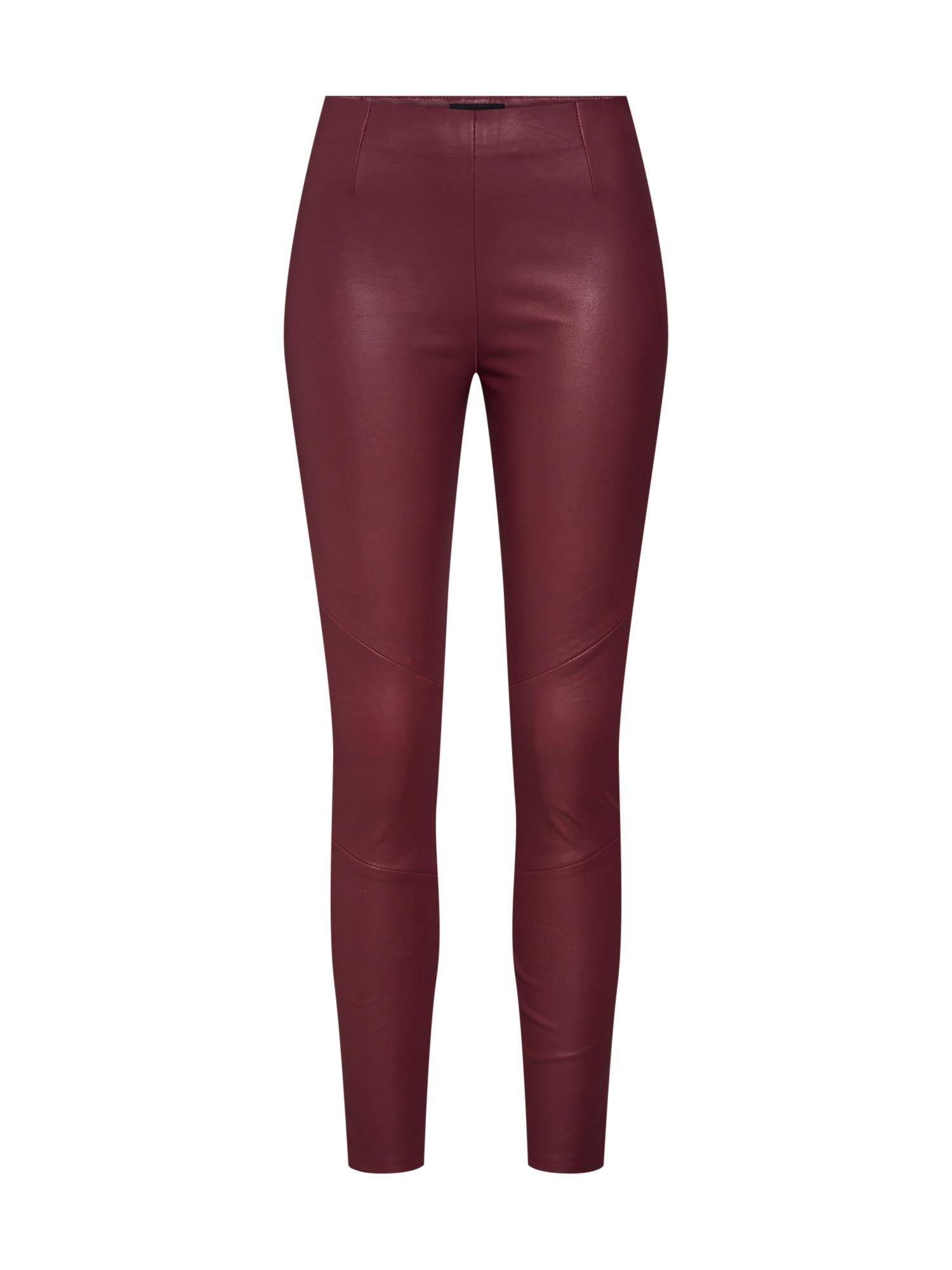 Kalhoty Nori vínově červená Tigha