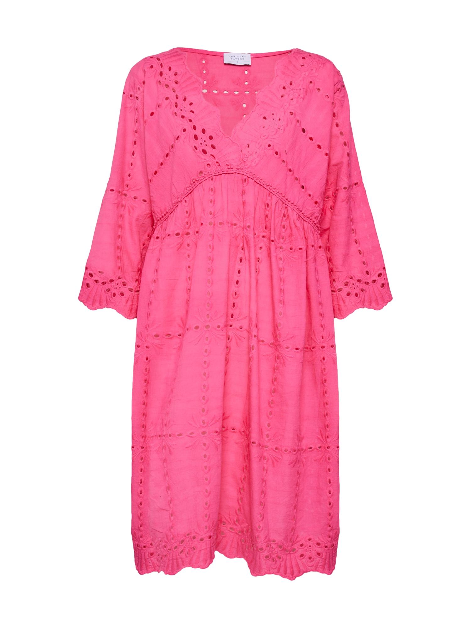 Letní šaty batista fuchsiová Carolina Cavour