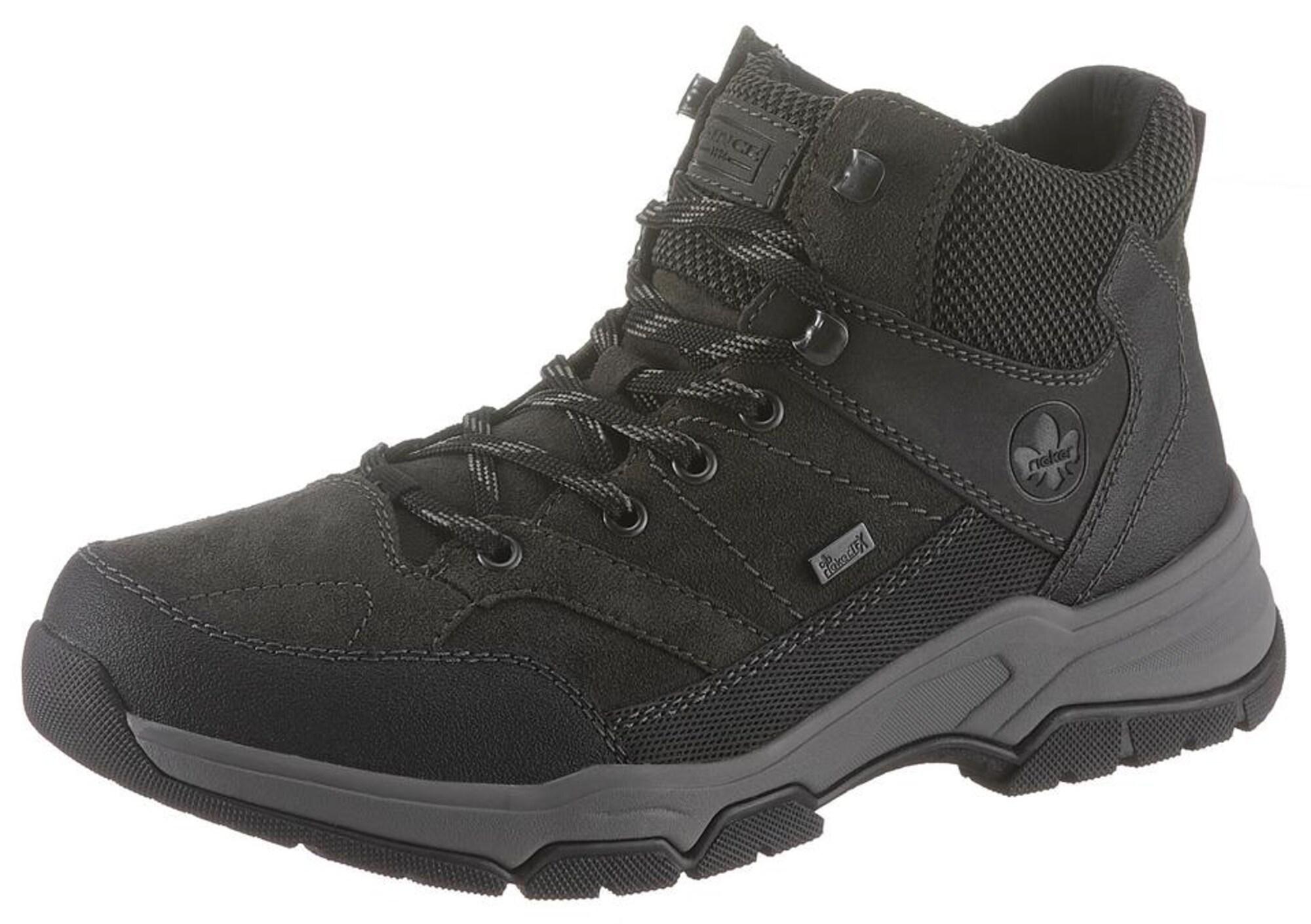 Schnürboots | Schuhe > Boots > Schnürboots | Grau - Schwarz | RIEKER