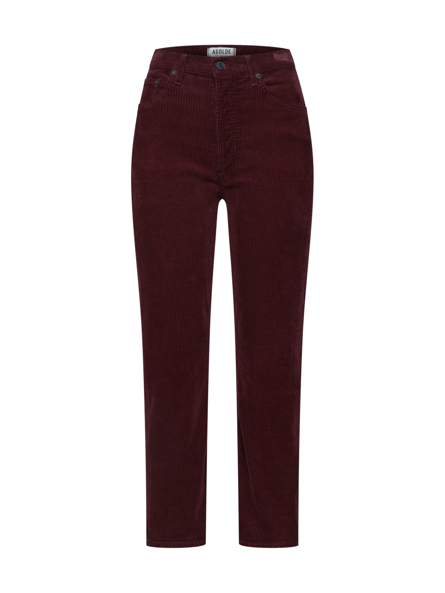 Kalhoty Riley vínově červená AGOLDE