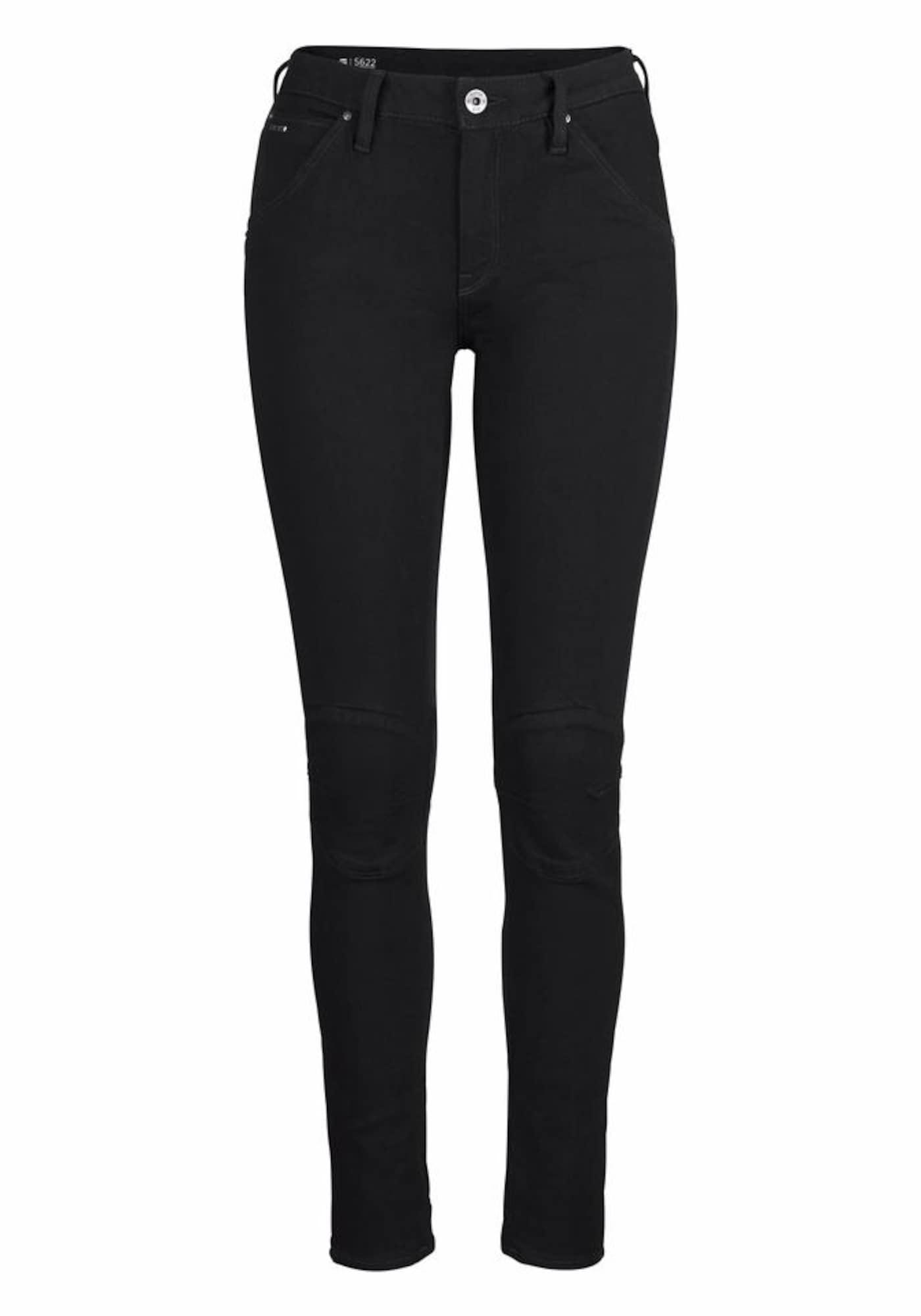 G-STAR RAW Dames Jeans 5622 Mid Skinny zwart