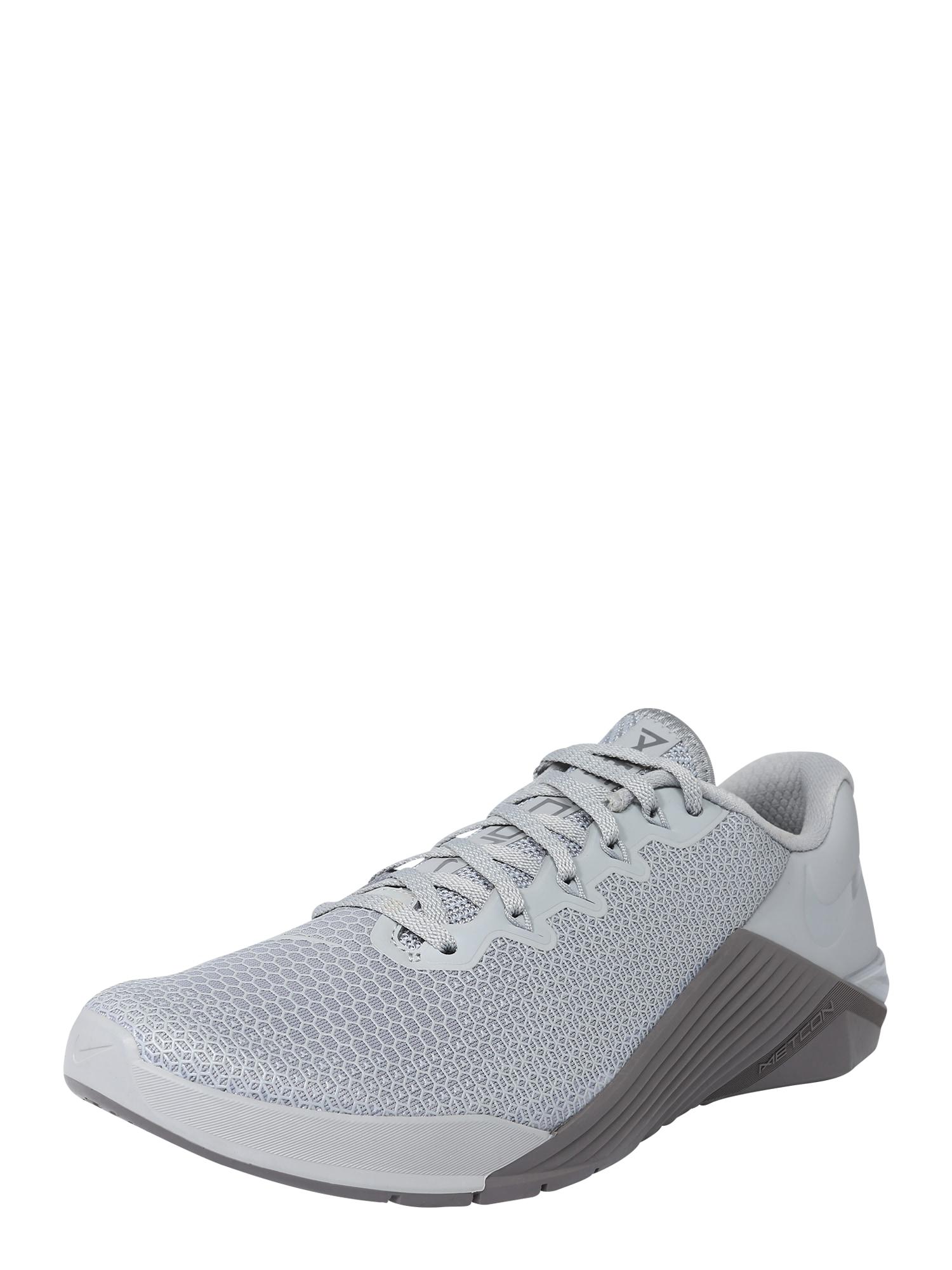 Sportovní boty METCON 5 šedá NIKE