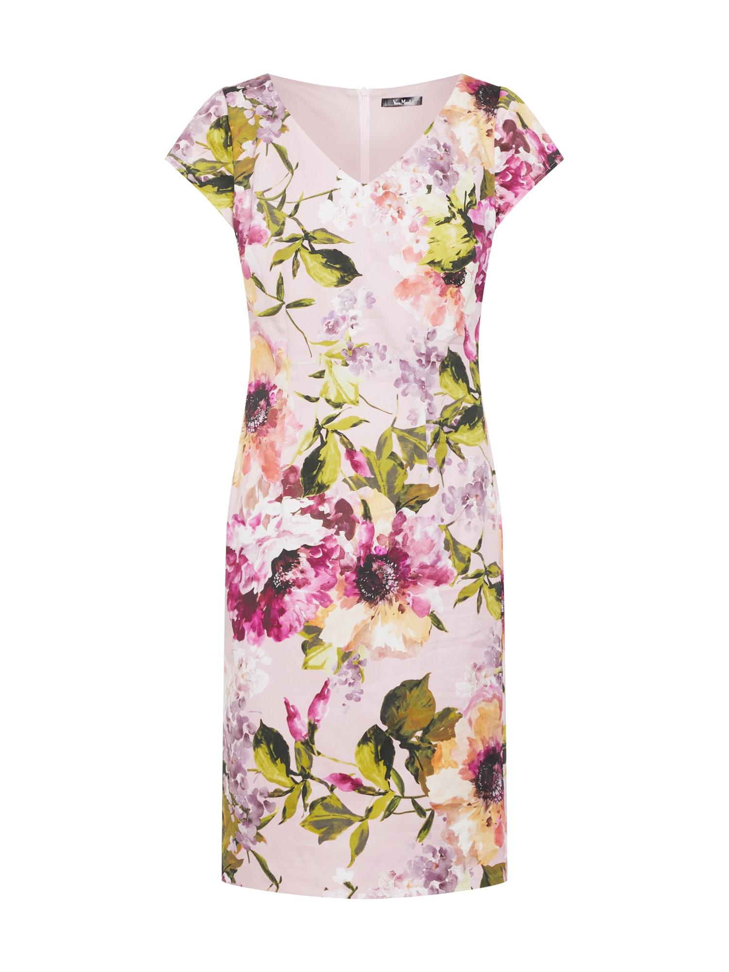 Pouzdrové šaty mix barev růže Vera Mont