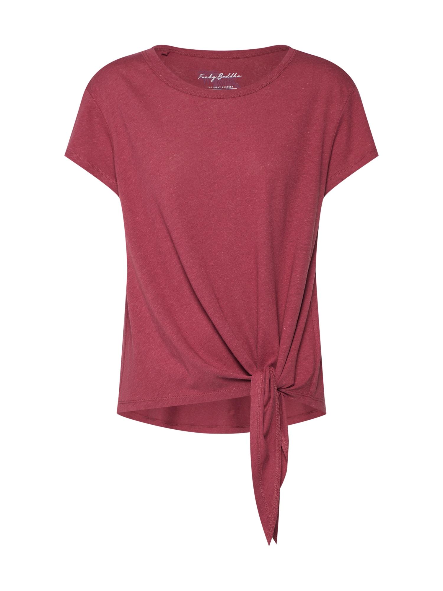 Tričko burgundská červeň Funky Buddha