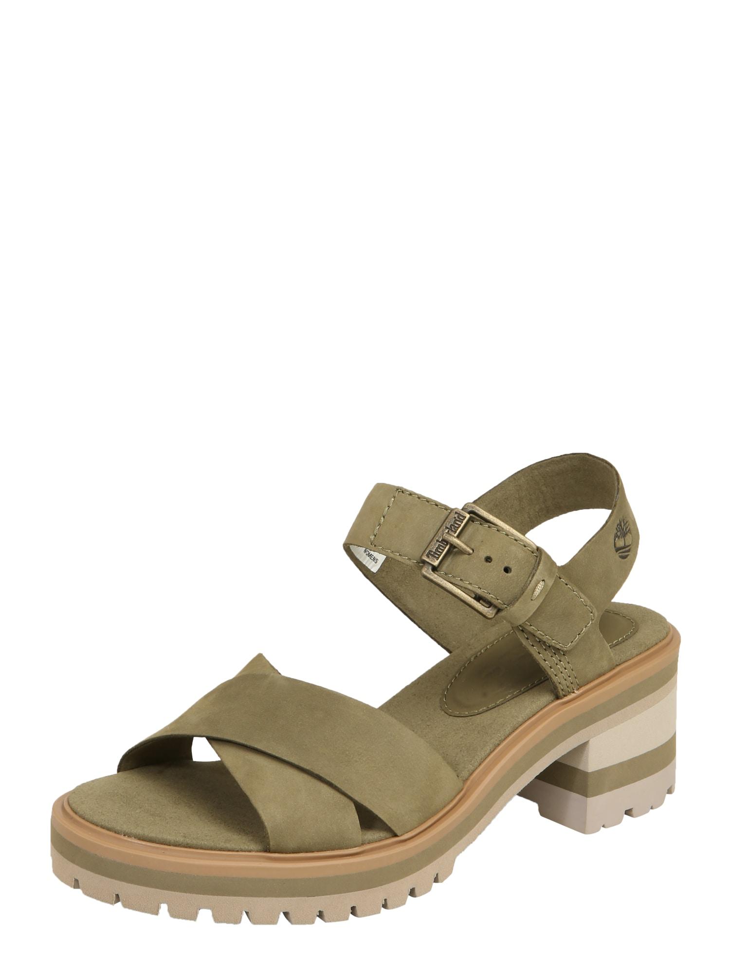 Páskové sandály Violet Marsh olivová TIMBERLAND