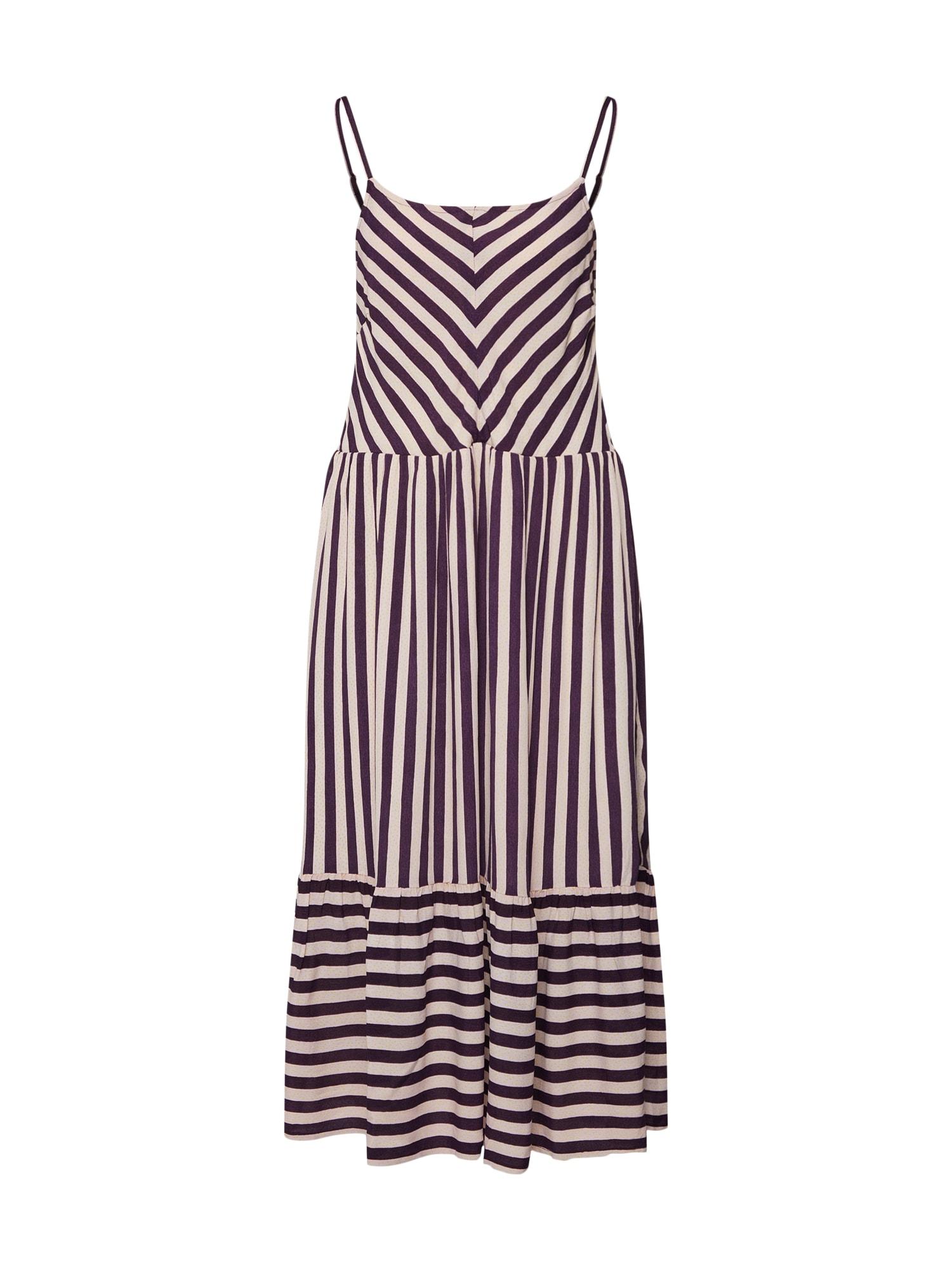 Šaty Jenessa fialová bílá NÜMPH
