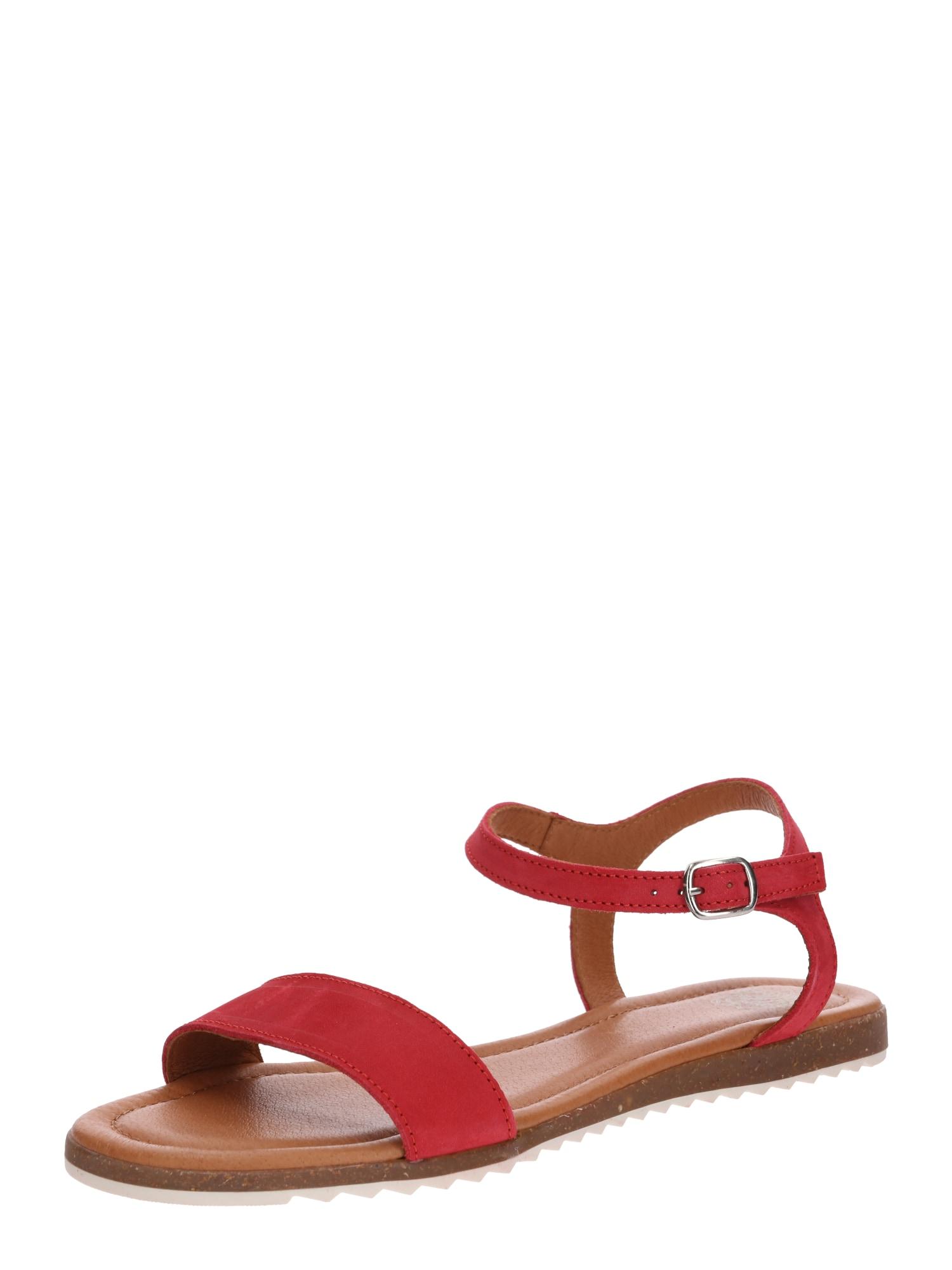 Páskové sandály Lara béžová červená Apple Of Eden