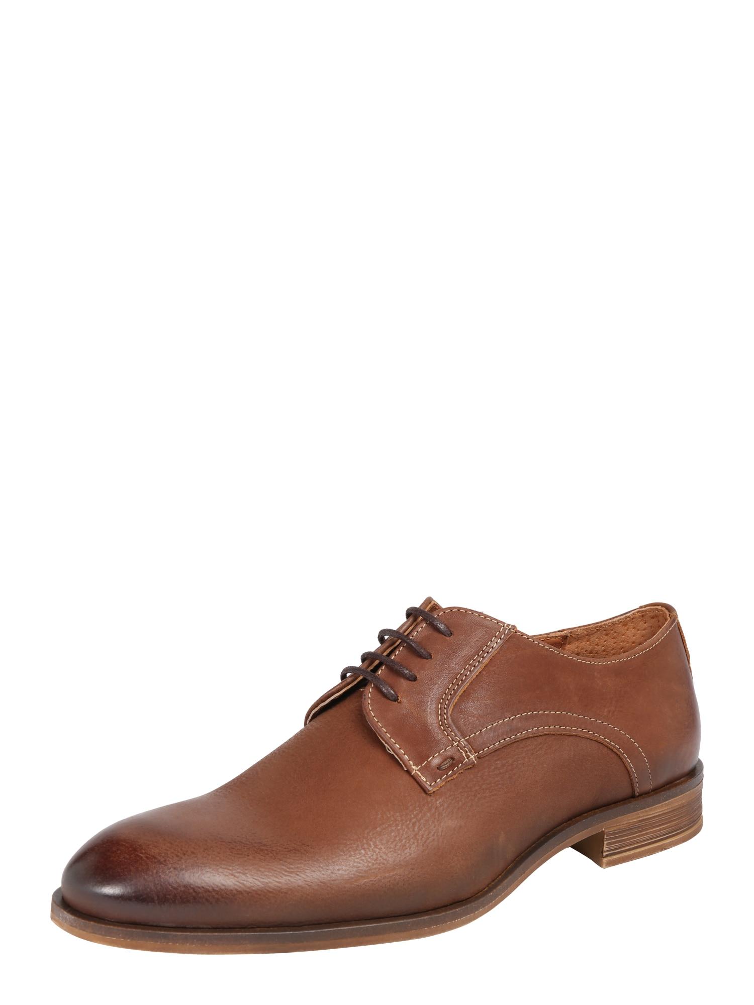 Šněrovací boty BYRON koňaková Bianco